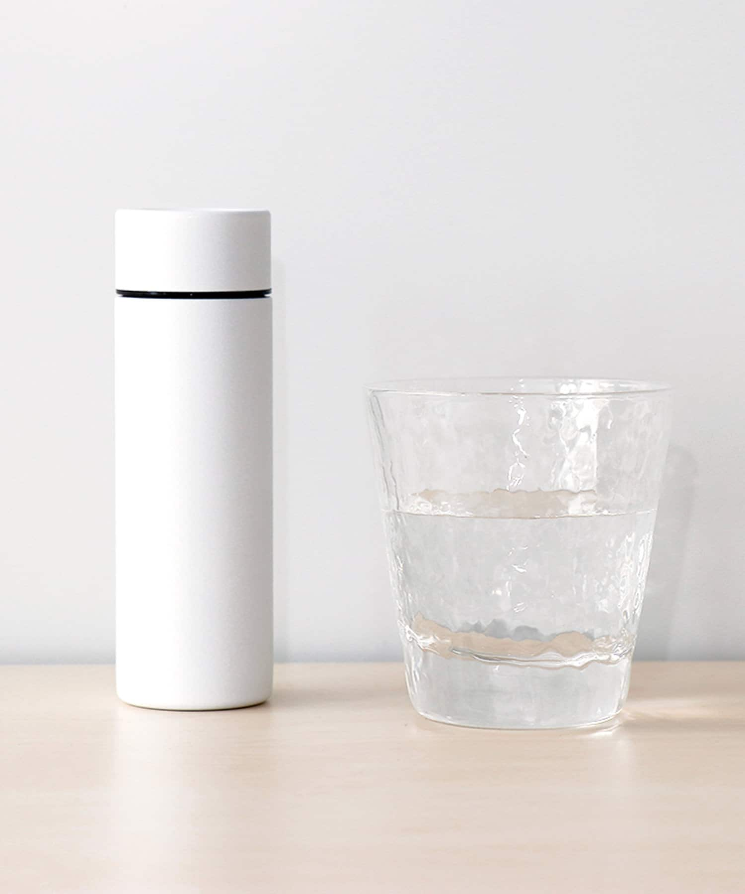 3COINS(スリーコインズ) ライフスタイル ミニステンレスボトル135ml ホワイト