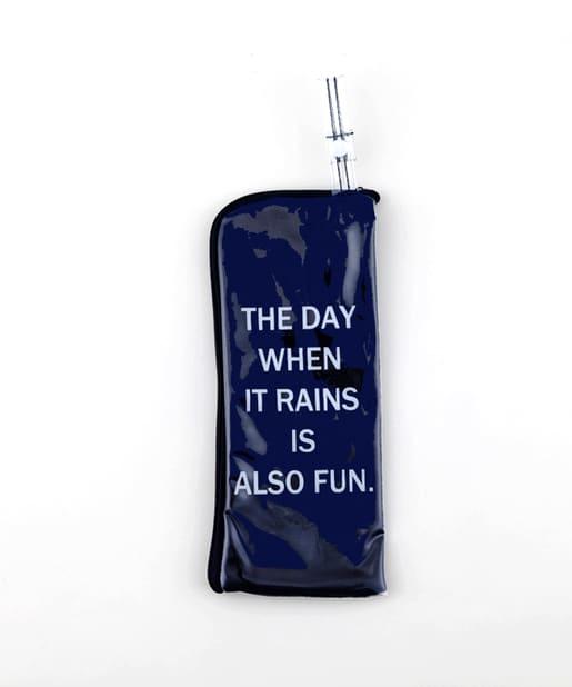3COINS(スリーコインズ) ライフスタイル PVC折りたたみ傘ポーチ ネイビー