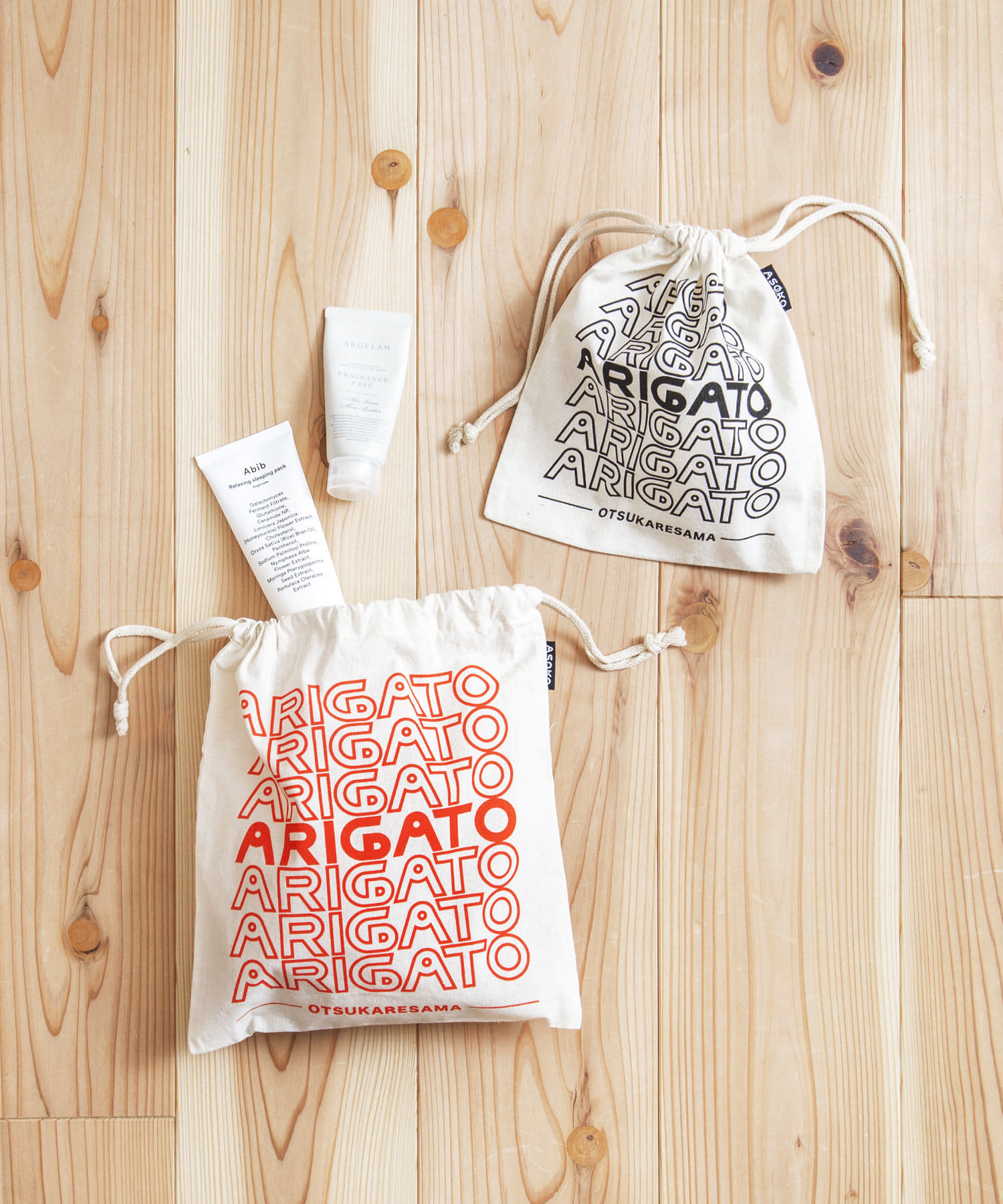 ASOKO(アソコ) ライフスタイル 【OMIYAGE】ARIGATO巾着2個セット その他