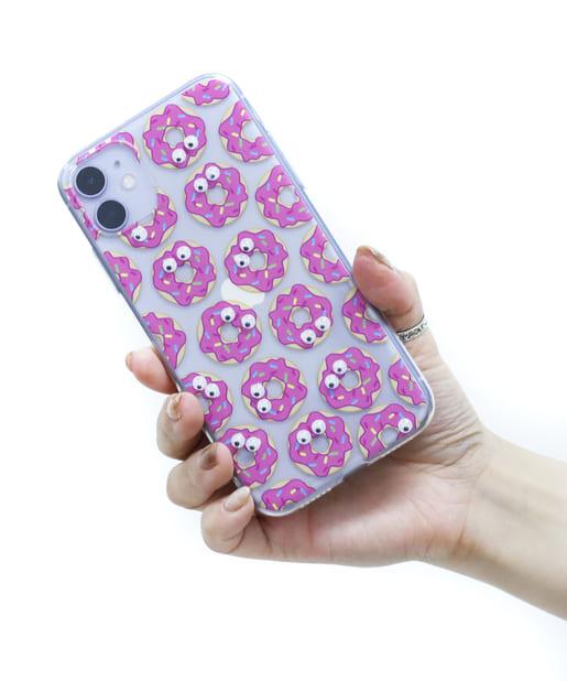 3COINS(スリーコインズ) ライフスタイル 【ASOKO】<WEB限定SALE>目玉が動くiPhone11ケース ピンク