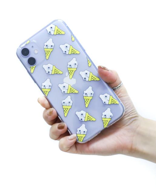3COINS(スリーコインズ) ライフスタイル 【ASOKO】<WEB限定SALE>目玉が動くiPhone11ケース イエロー