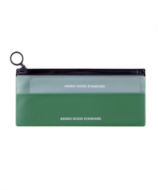ASOKO(アソコ) レディース 【ASOKO GOOD STANDARD】薄型Zipperポーチ グリーン