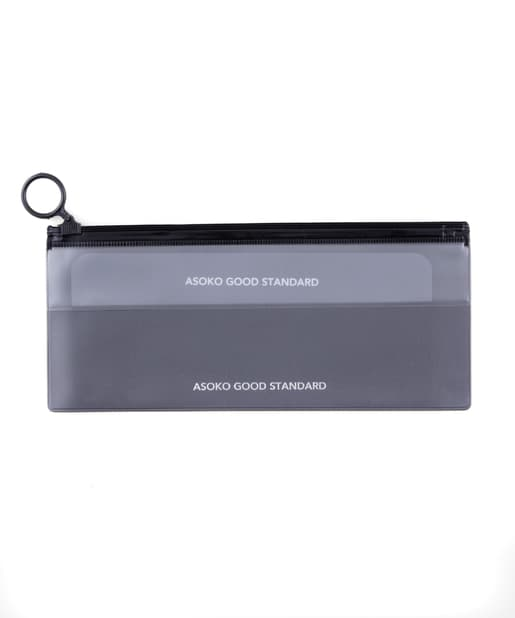 3COINS(スリーコインズ) レディース 【ASOKO】薄型Zipperポーチ グレー