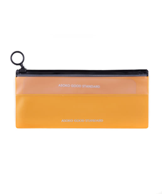 ASOKO(アソコ) レディース 【ASOKO GOOD STANDARD】薄型Zipperポーチ オレンジ