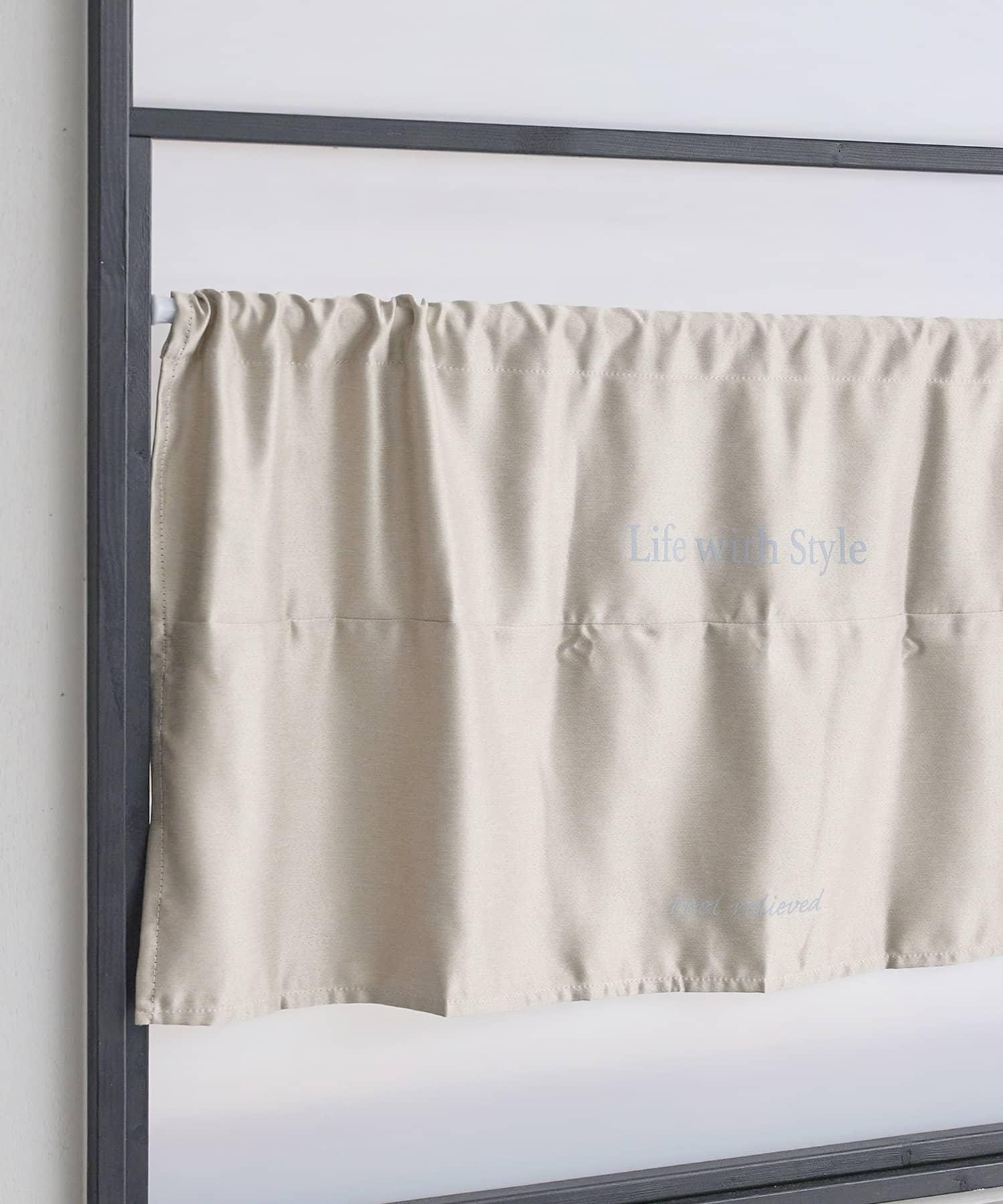 3COINS(スリーコインズ) ライフスタイル 遮光カフェカーテン アイボリー