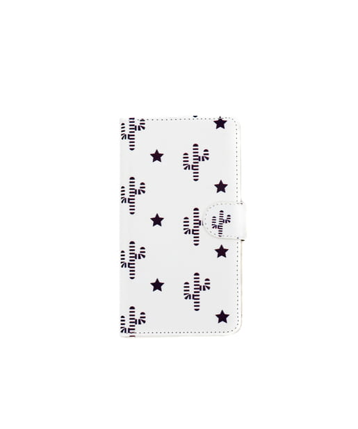 3COINS(スリーコインズ) レディース 【ASOKO】<WEB限定SALE>総柄手帳型iPhone11ケース ホワイト