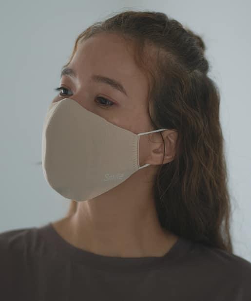 pual ce cin(ピュアルセシン) レディース ホールガーメント SMILEマスク 大人用 ベージュ