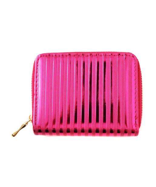 ASOKO(アソコ) レディース メタリックボーダー財布 ピンク