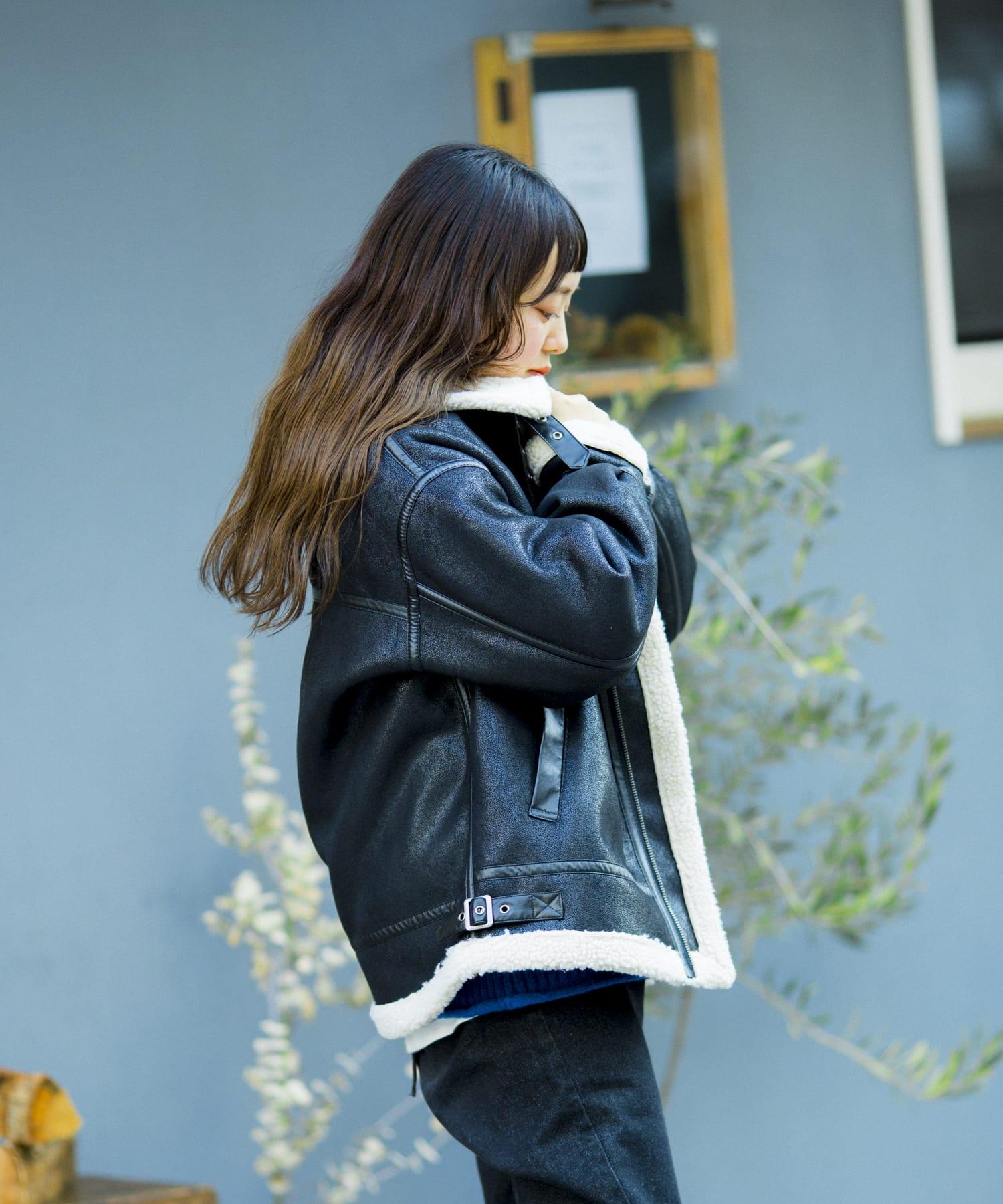 CPCM(シーピーシーエム) 【WEB限定】フェイクシープボアフライトジャケット