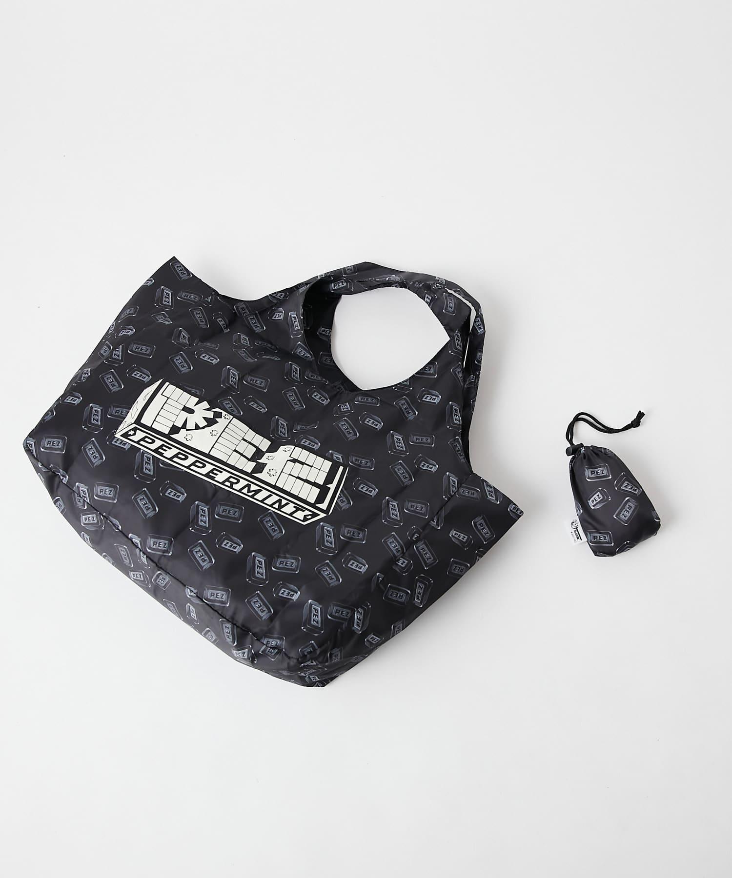 ear PAPILLONNER(イア パピヨネ) 動画【PEZ(ペッツ)×ear】オリジナルロゴエコバッグ 収納用巾着つき