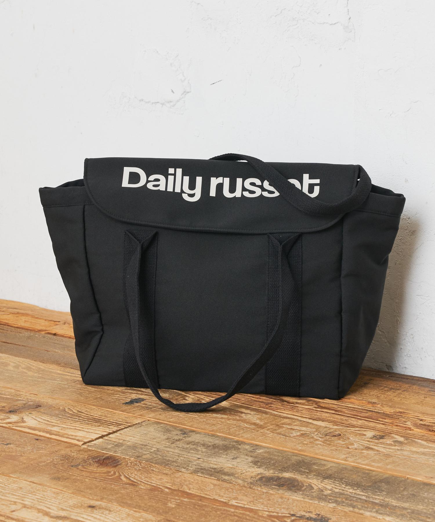 Daily russet(デイリー ラシット) 【大容量】ロゴフラップトートバッグ(L)