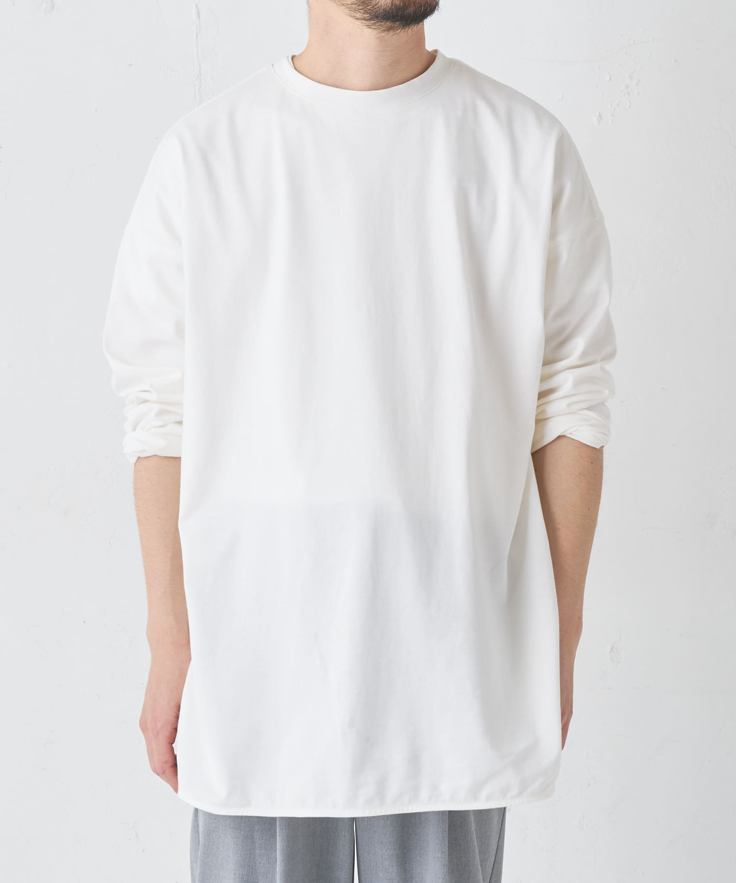 BONbazaar(ボンバザール) BONbazaar(ボンバザール) 《ユニセックス》前後2WAYオーバーサイズTシャツ ホワイト