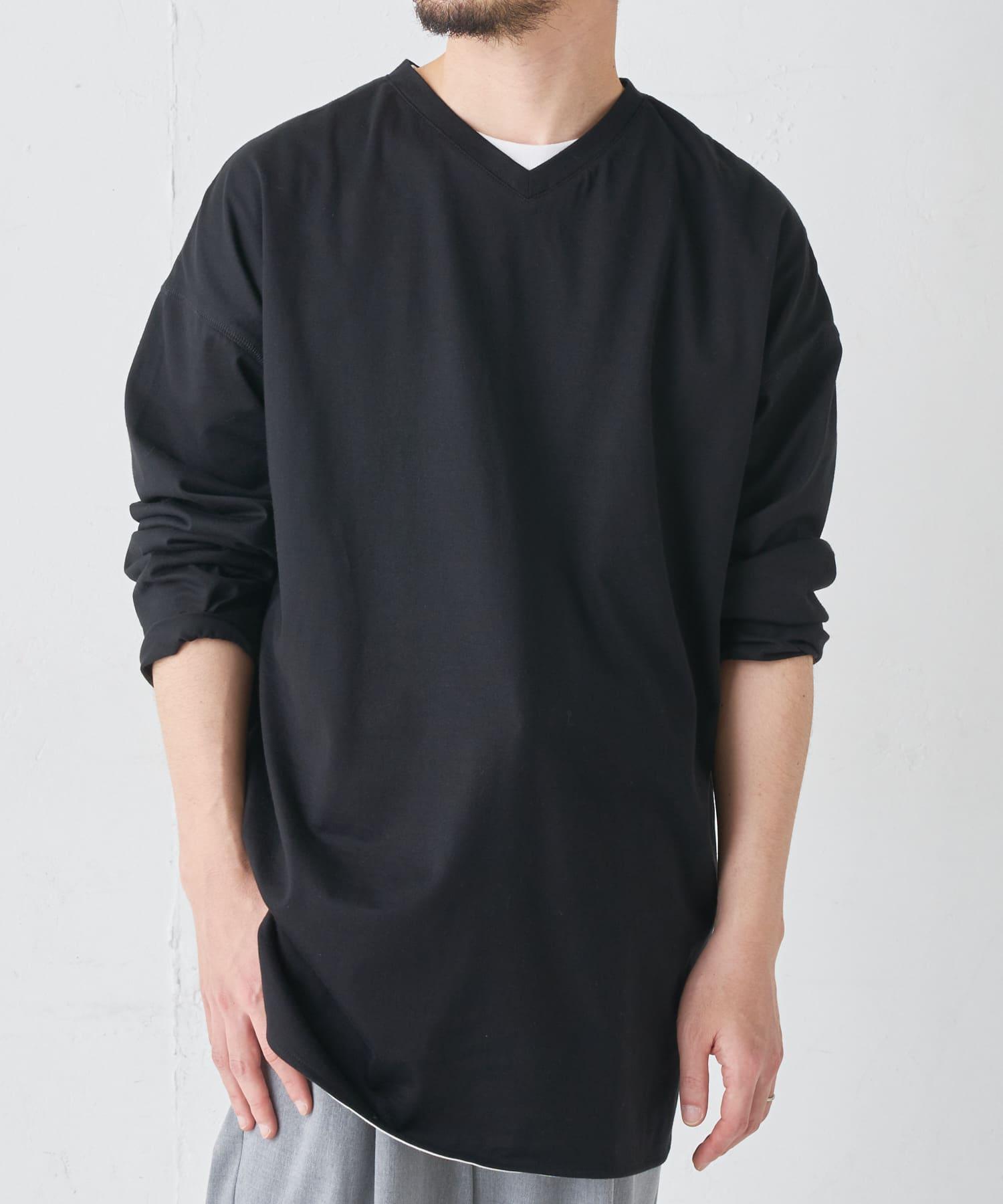 BONbazaar(ボンバザール) BONbazaar(ボンバザール) 《ユニセックス》前後2WAYオーバーサイズTシャツ ブラック