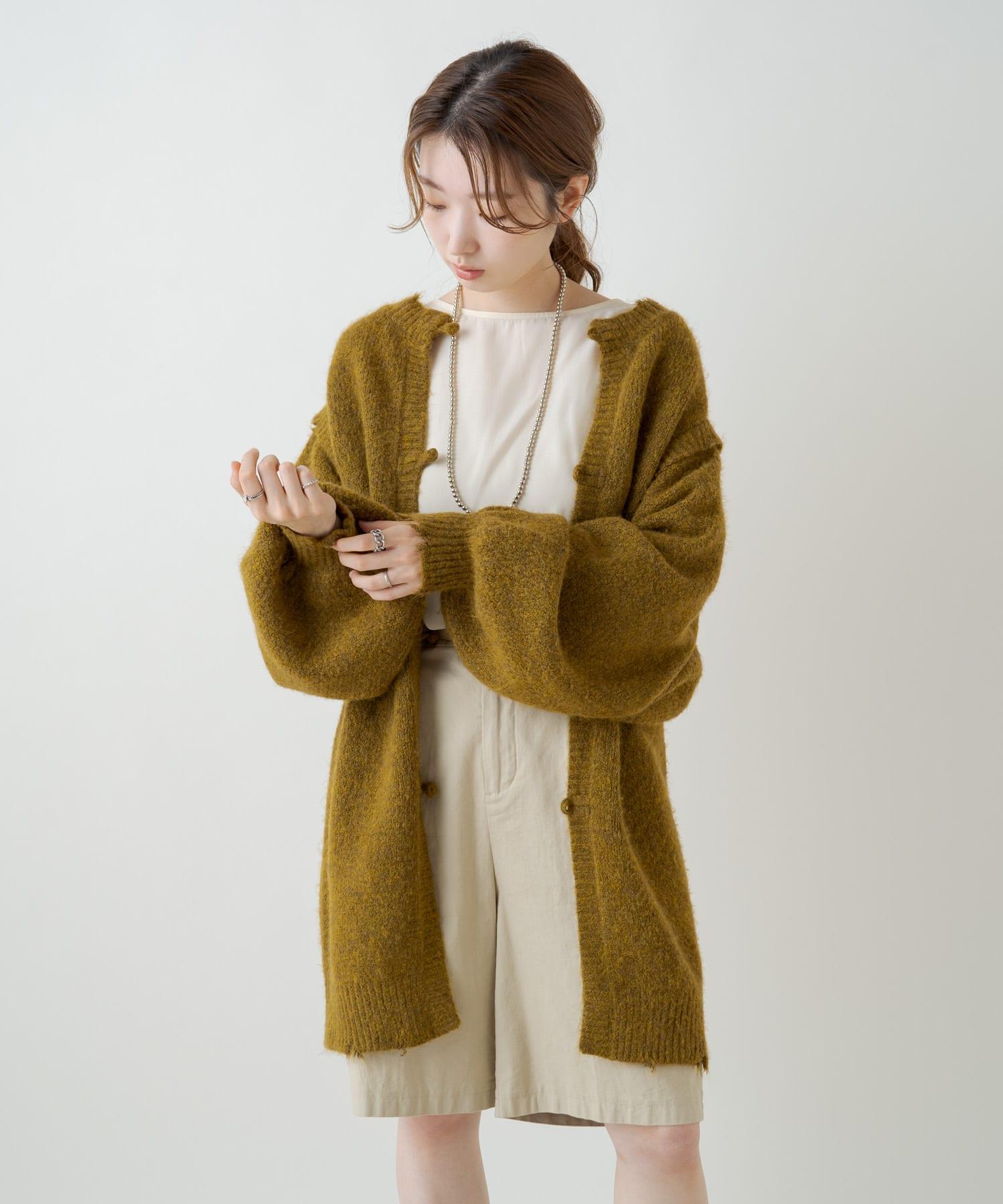 Kastane(カスタネ) レイヤード風2WAYダメージニット