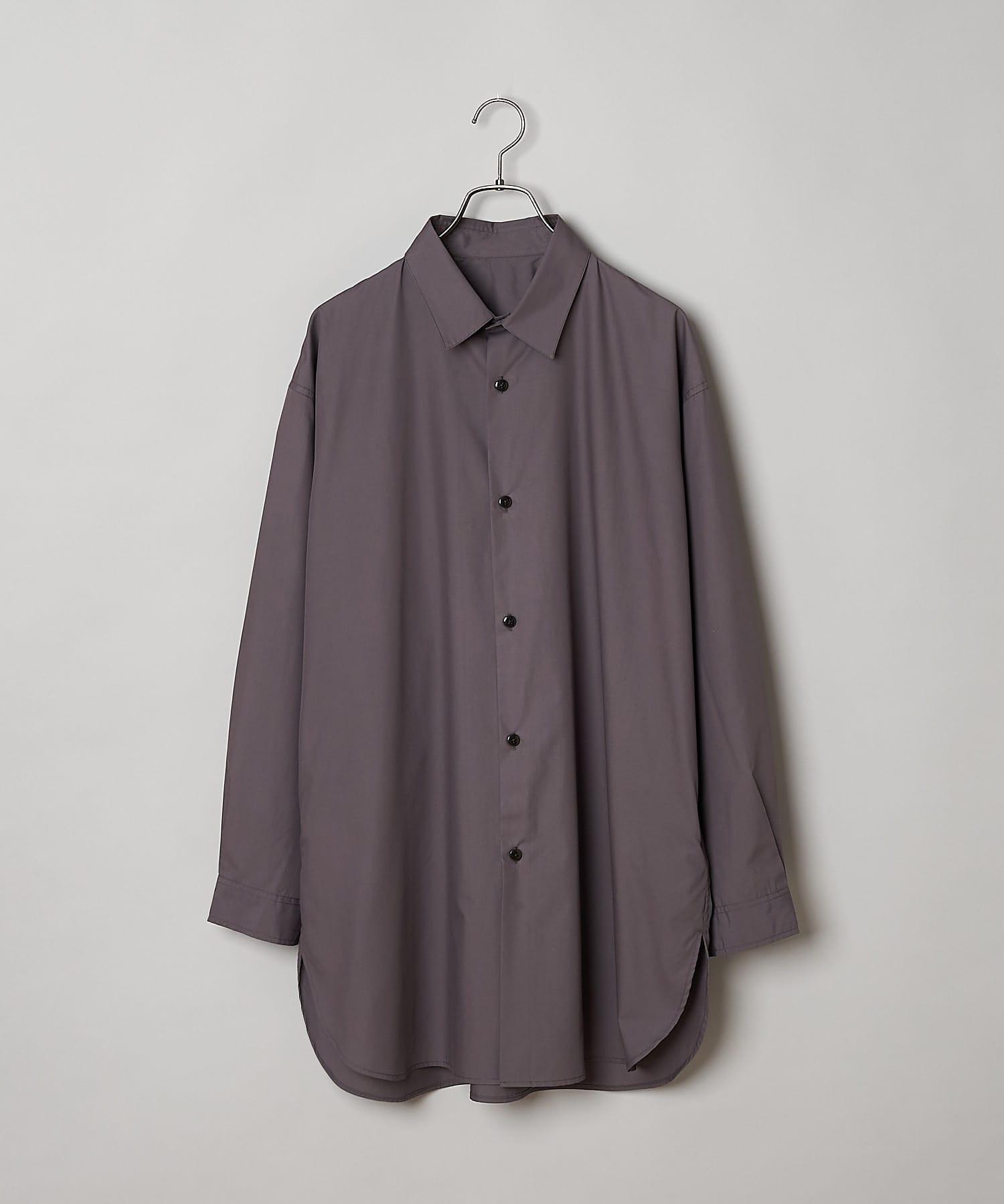 CIAOPANIC(チャオパニック) コットンツイルカラーロングシャツ