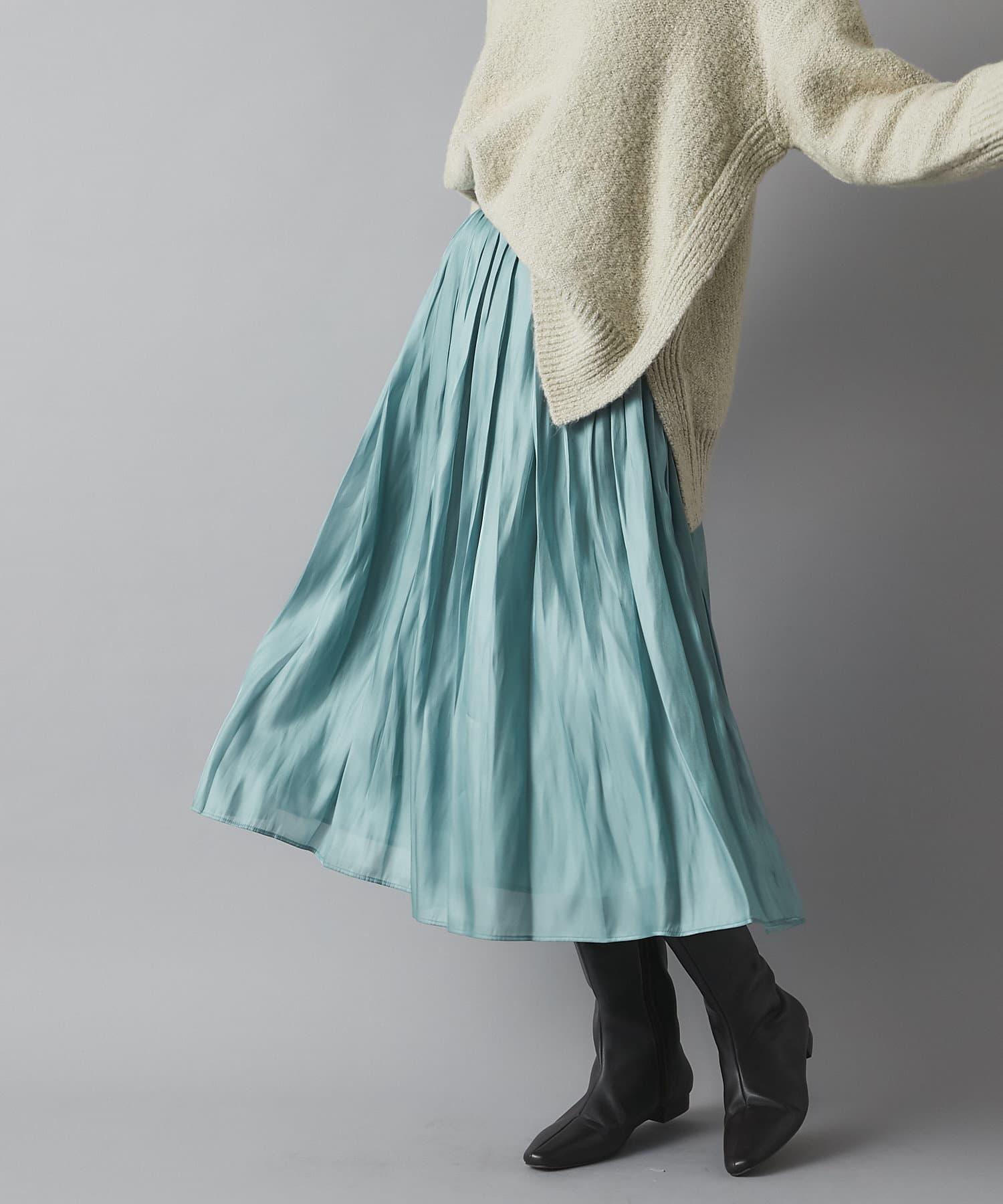RIVE DROITE(リヴドロワ) 【RIVE DROITEの名品】リキッドギャザースカート