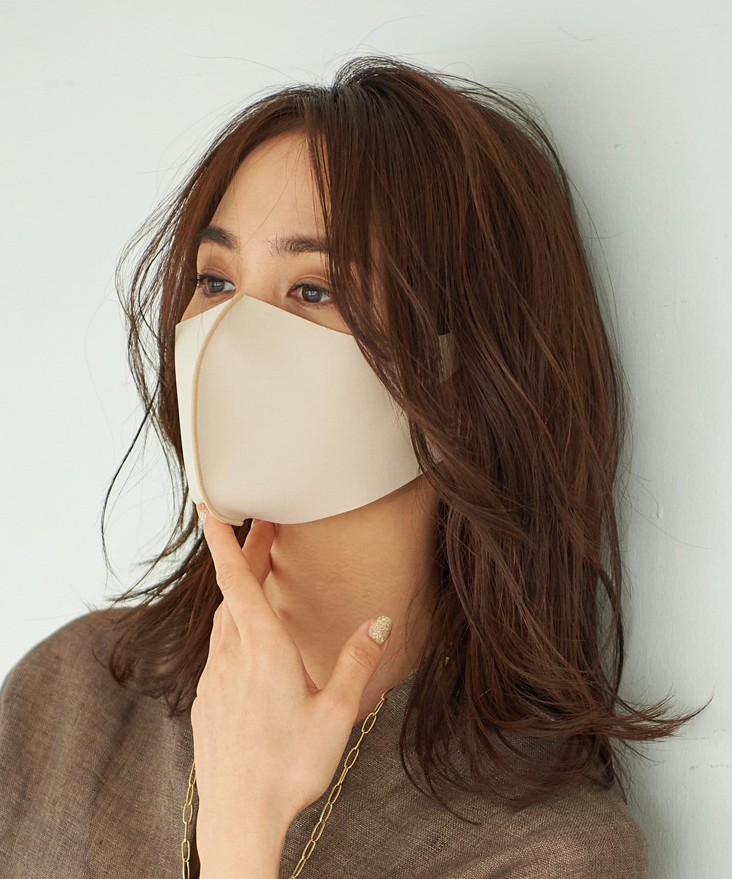 La boutique BonBon(ラブティックボンボン) レディース 【動画付き】小顔見えニュアンスカラー立体マスク・抗菌防臭【フリーサイズ】 ベージュ