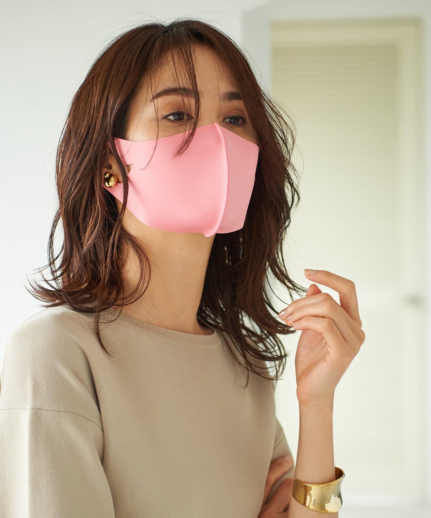 La boutique BonBon(ラブティックボンボン) レディース 【動画付き】小顔見えニュアンスカラー立体マスク・抗菌防臭【フリーサイズ】 ピンク