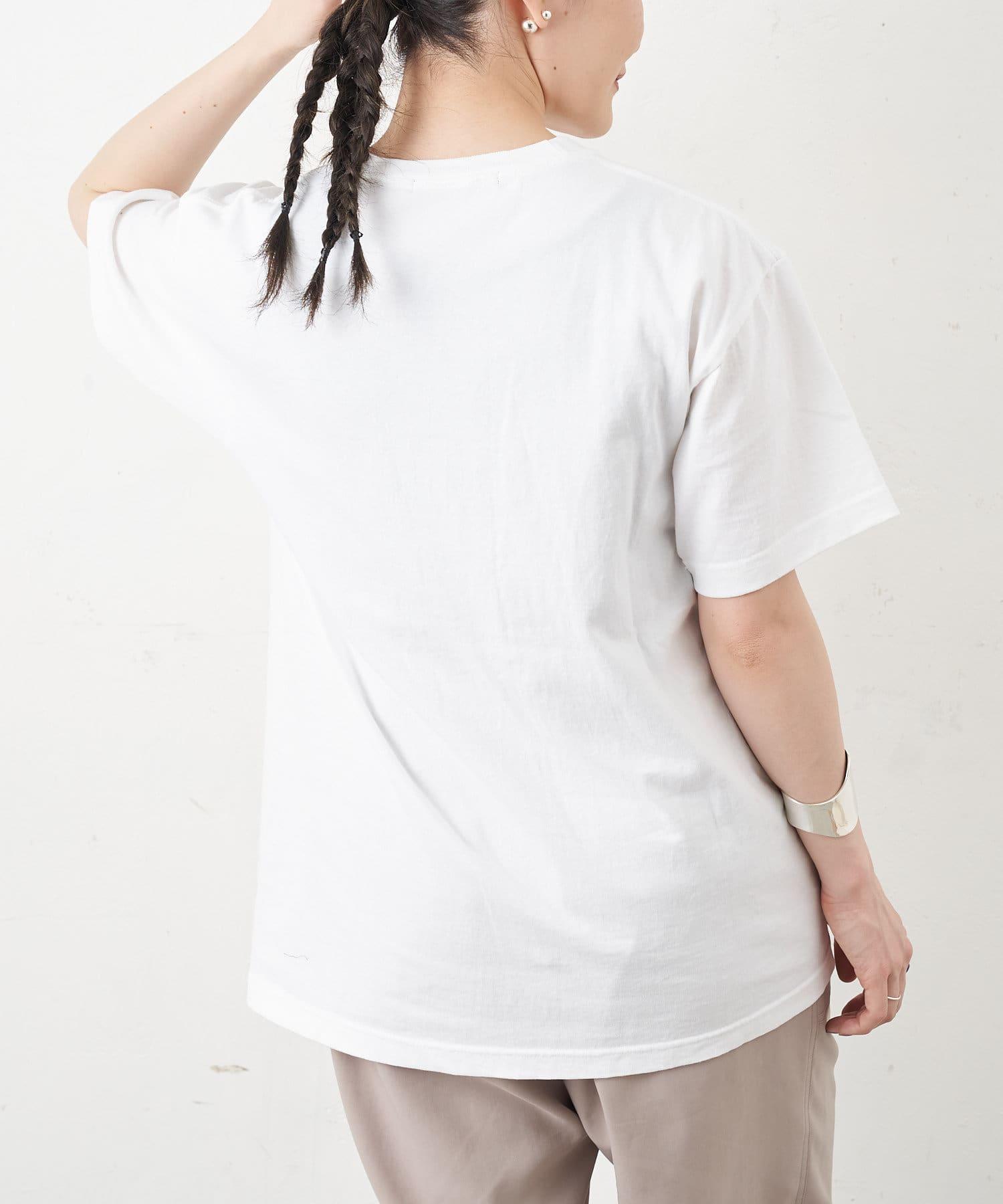 ear PAPILLONNER(イア パピヨネ) 【BRODER SMILEDRAW】刺繍 Tシャツ