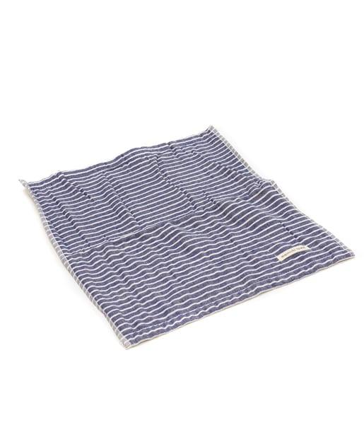 ASOKO(アソコ) ライフスタイル まいにちハンドタオル 細ボーダー ブルー