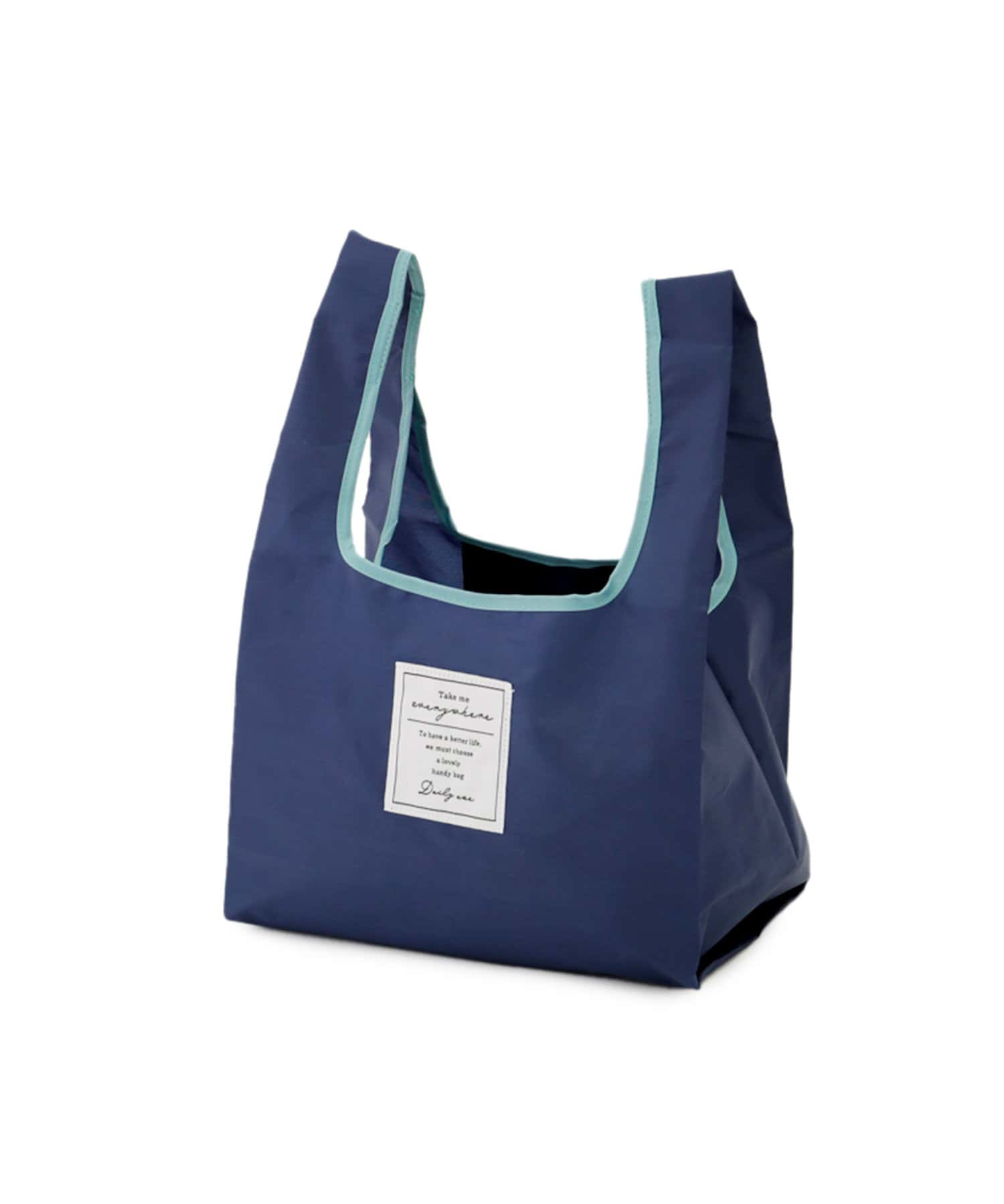 3COINS(スリーコインズ) ライフスタイル 【持ち運んでエコに使おう】お弁当バッグ ネイビー
