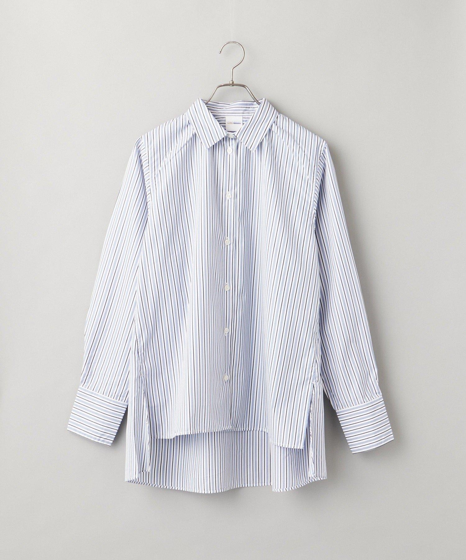 CIAOPANIC(チャオパニック) ストライプスリットシャツ