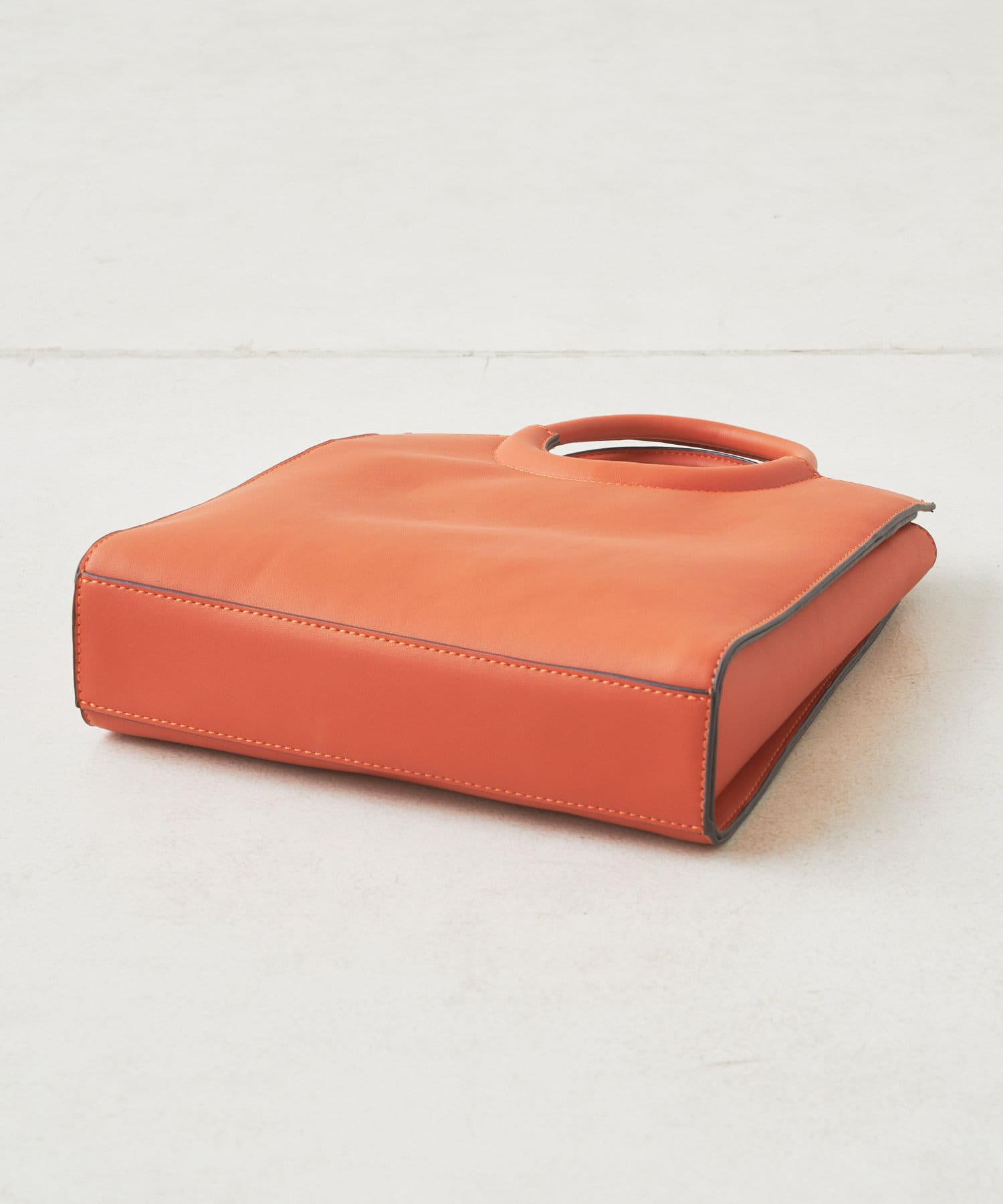 Discoat(ディスコート) くり手配色スクエアトートバッグ