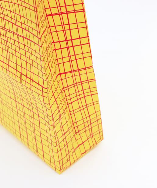 3COINS(スリーコインズ) 【ASOKO】布バッグ柄縦型3個セット