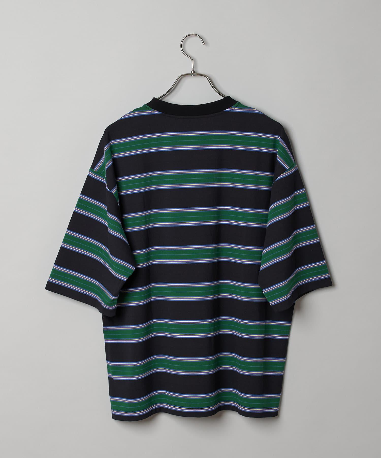 CIAOPANIC(チャオパニック) マルチボーダービッグTシャツ/ビッグシルエットTシャツ