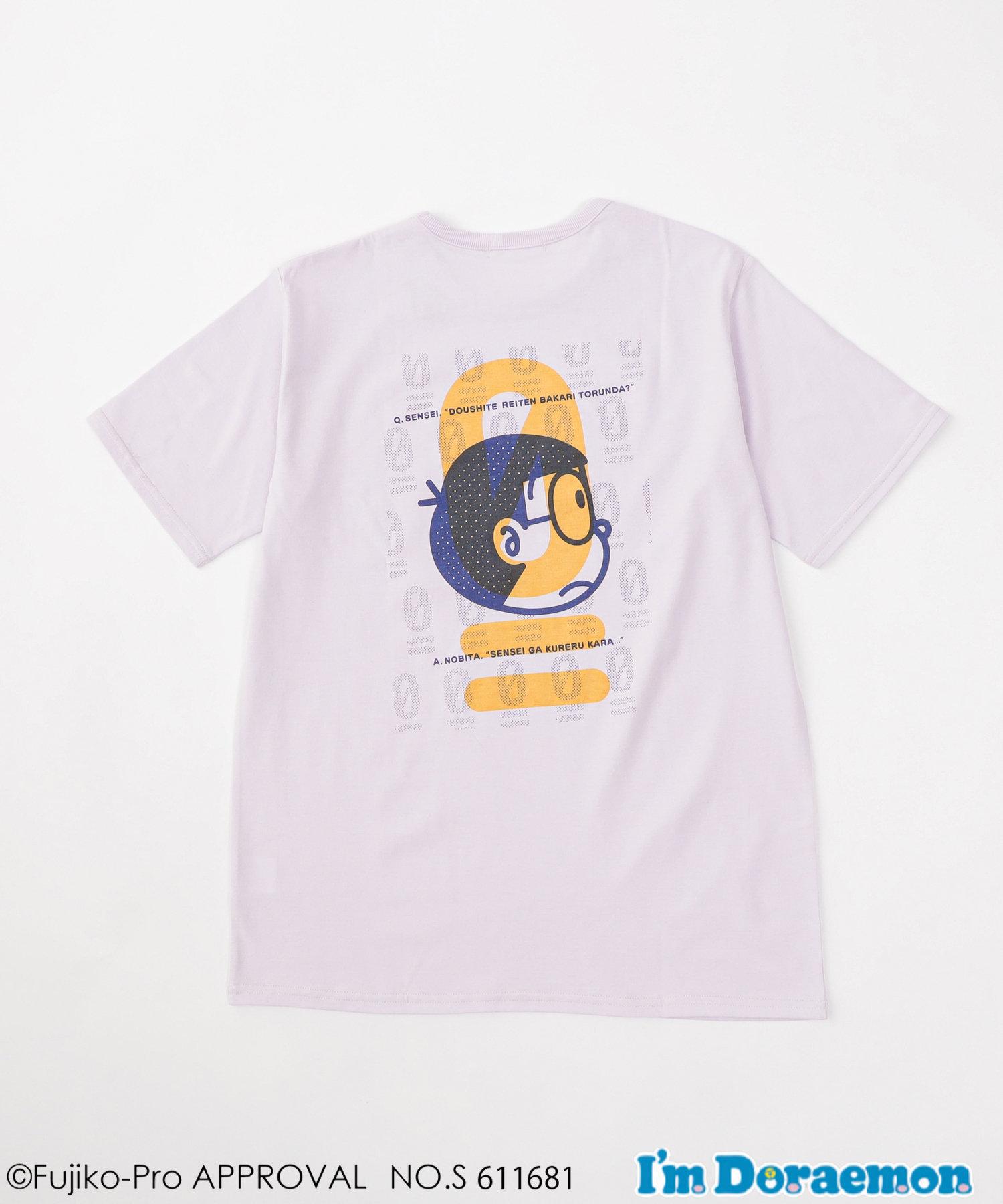 CIAOPANIC TYPY(チャオパニックティピー) 【I'm Doraemon de TYPY】 のび太0点 バックプリントTee