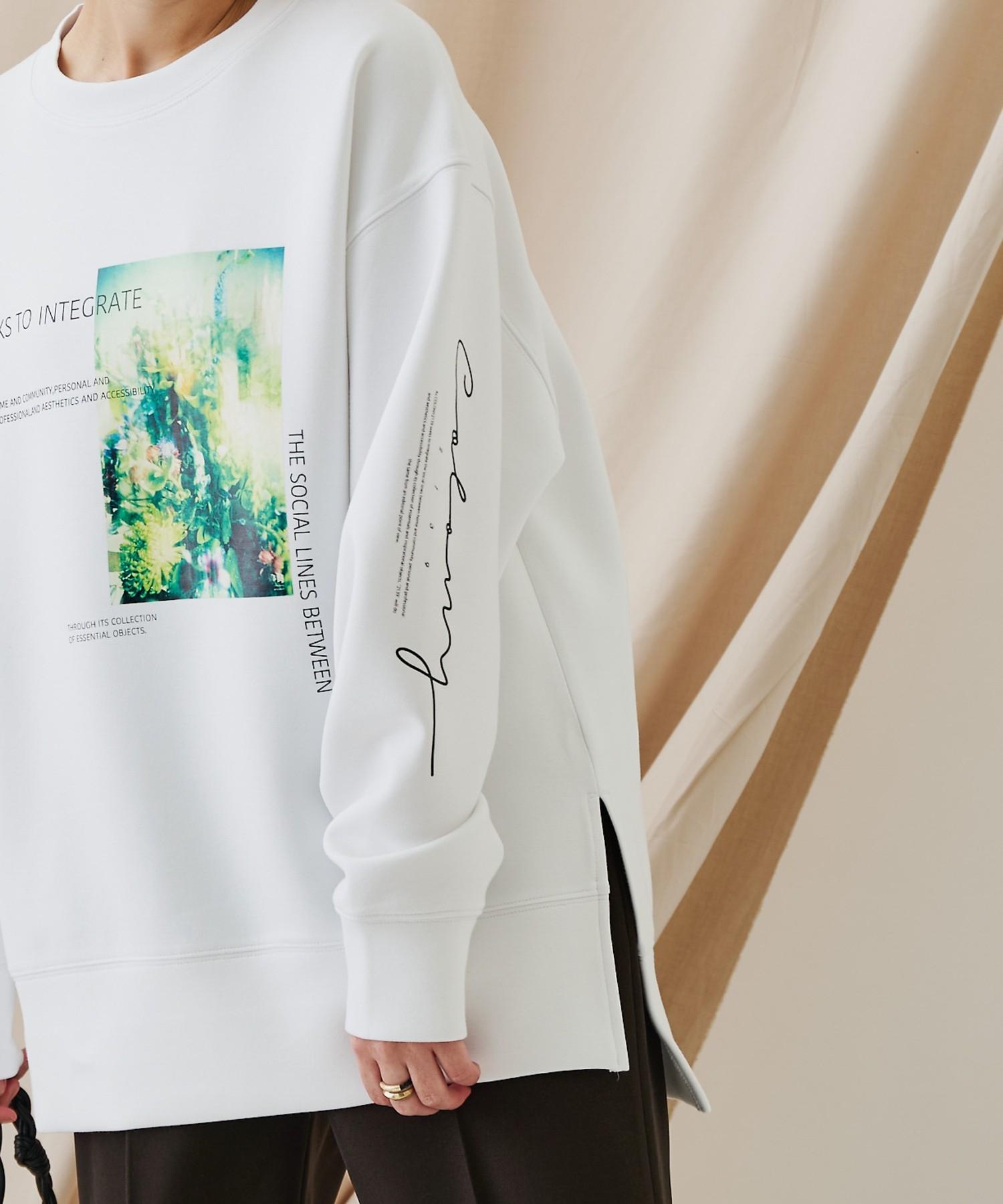 COLONY 2139(コロニー トゥーワンスリーナイン) 【WEB・一部店舗限定】ST 2139 ダンボールフラワーフォトPTスウェット