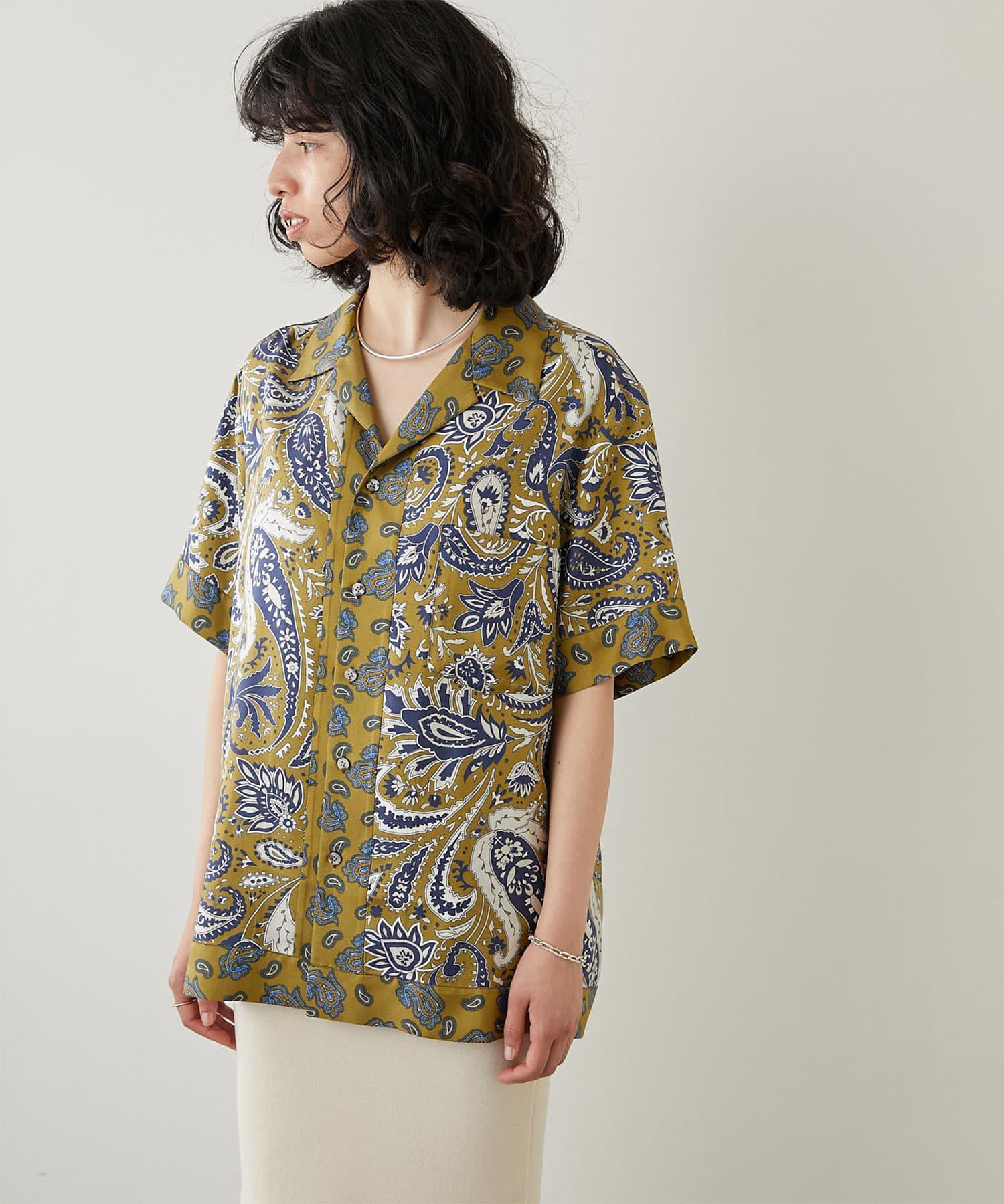 Whim Gazette(ウィム ガゼット) 【BANANATIME】シルクペイズリーシャツ