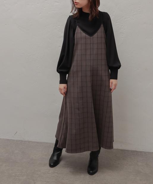 natural couture(ナチュラルクチュール) 【大人ナチュ】【WEB限定】ボリュームスリーブステッチカラーブラウス