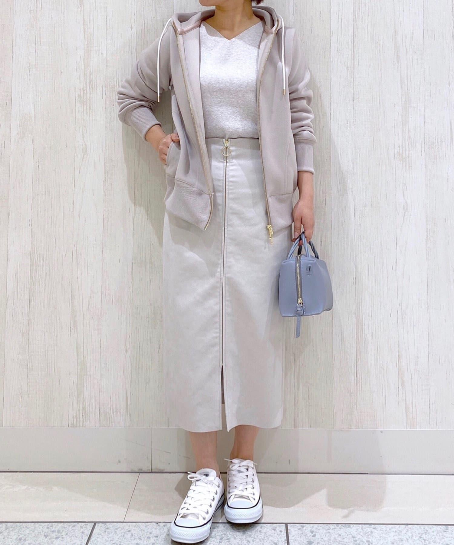 RIVE DROITE(リヴドロワ) 【女性らしいシルエットが魅力】エコスウェードジップスカート