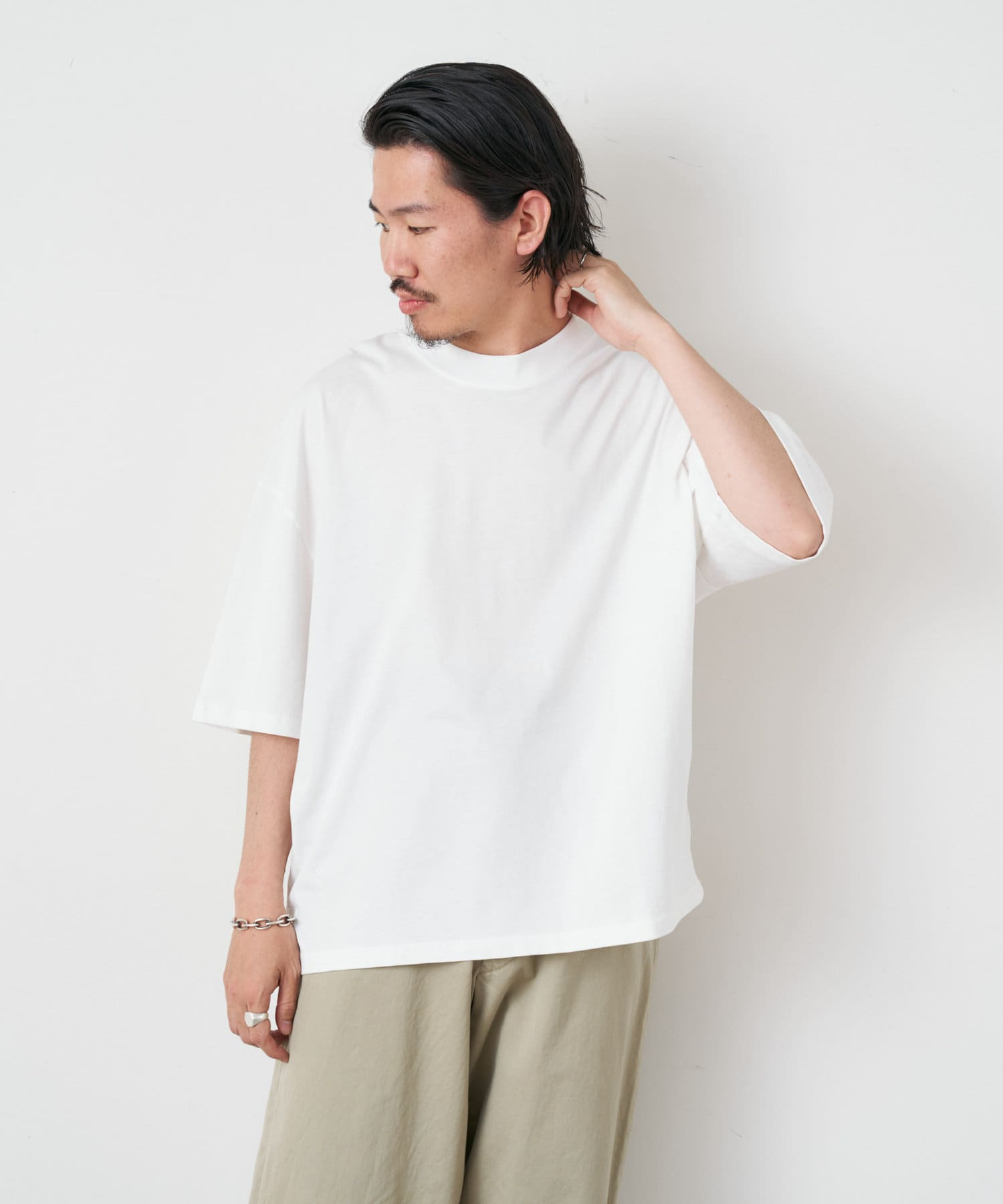 Drawing Numbers(ドローイングナンバーズ) STUDIO NICHOLSON / MOCK NECK T-SHIRT