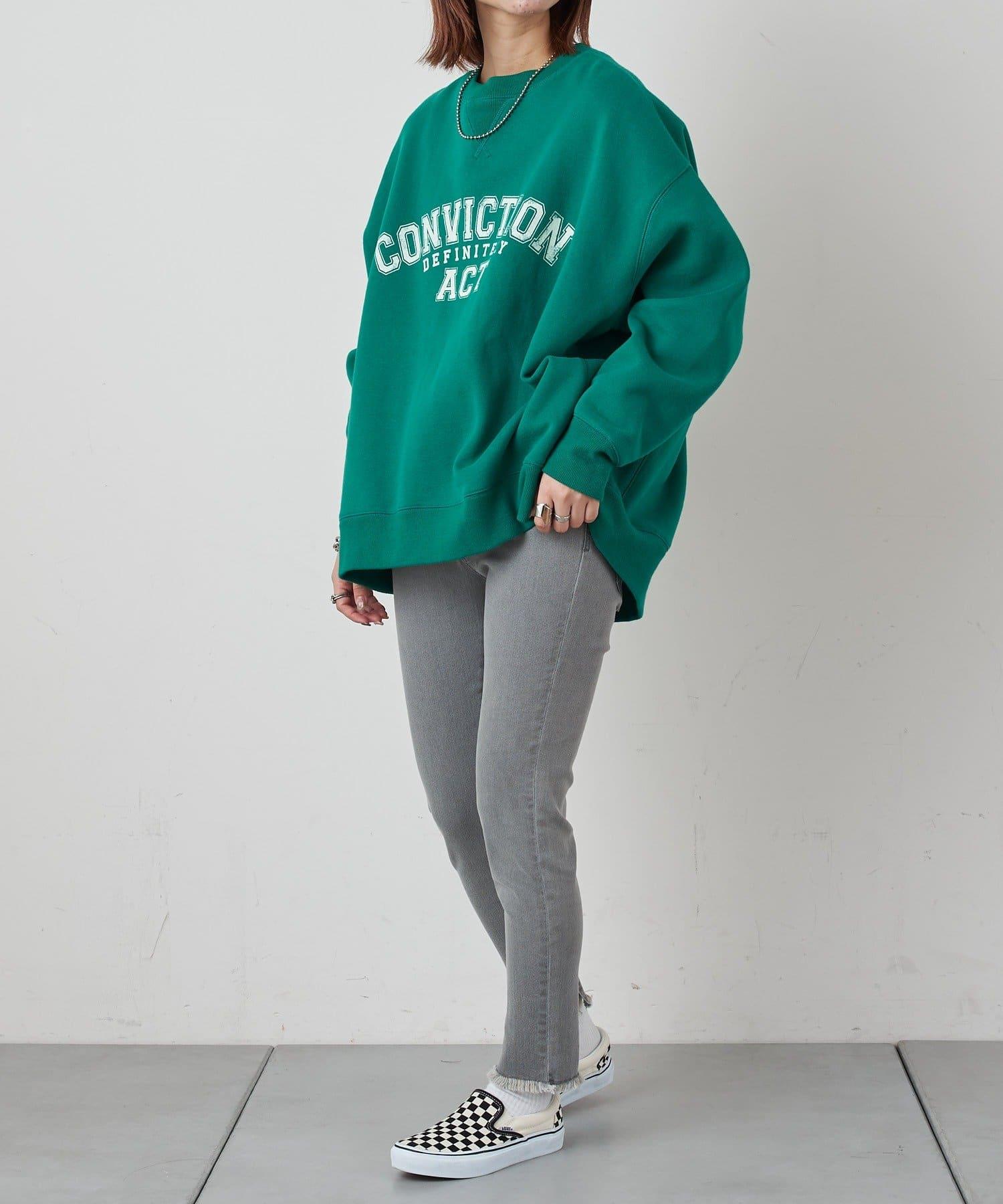CIAOPANIC TYPY(チャオパニックティピー) 裾スリットフリンジデニムレギパン