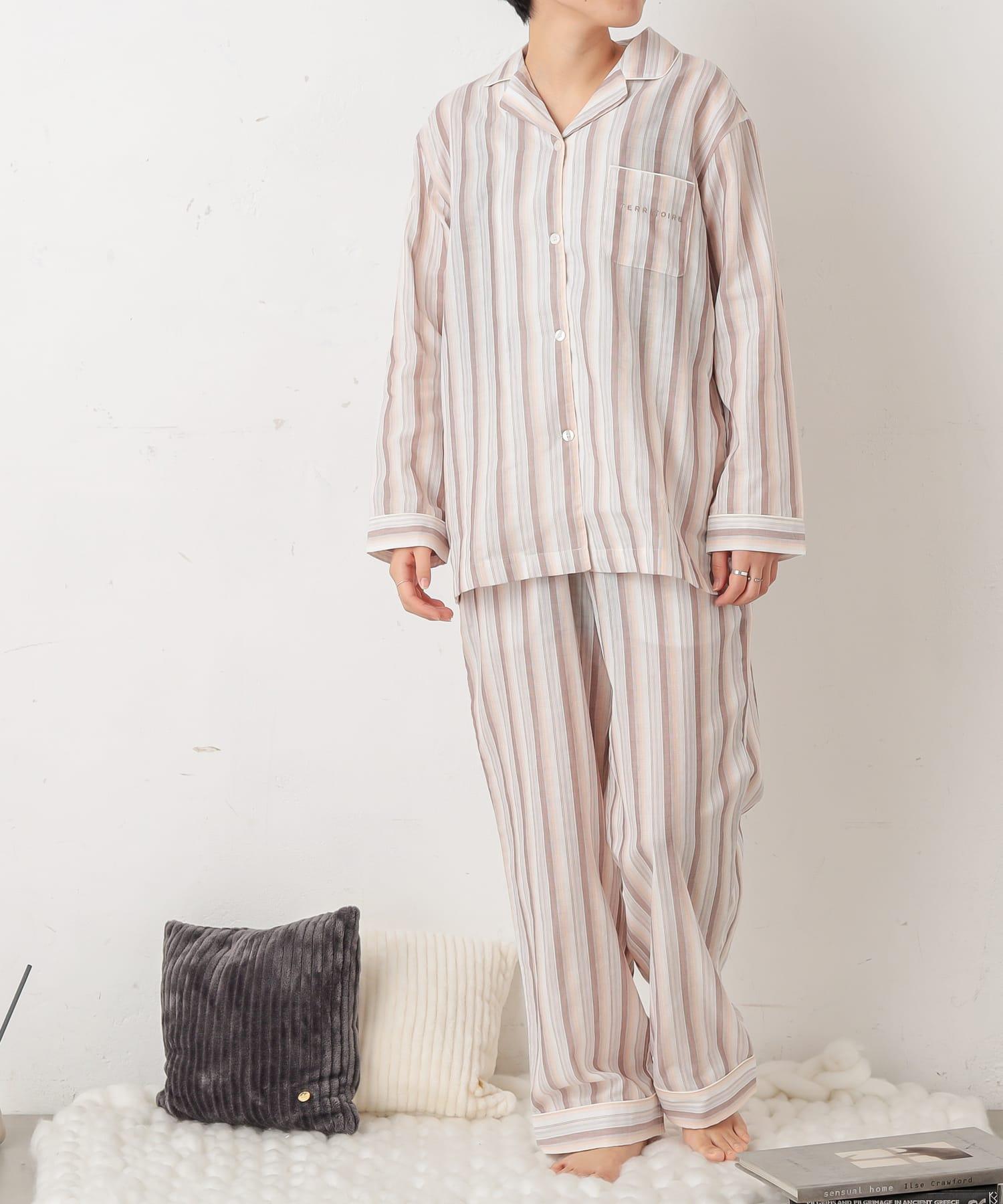 TERRITOIRE(テリトワール) LADIES軽やかライトガーゼパジャマ 上下セット