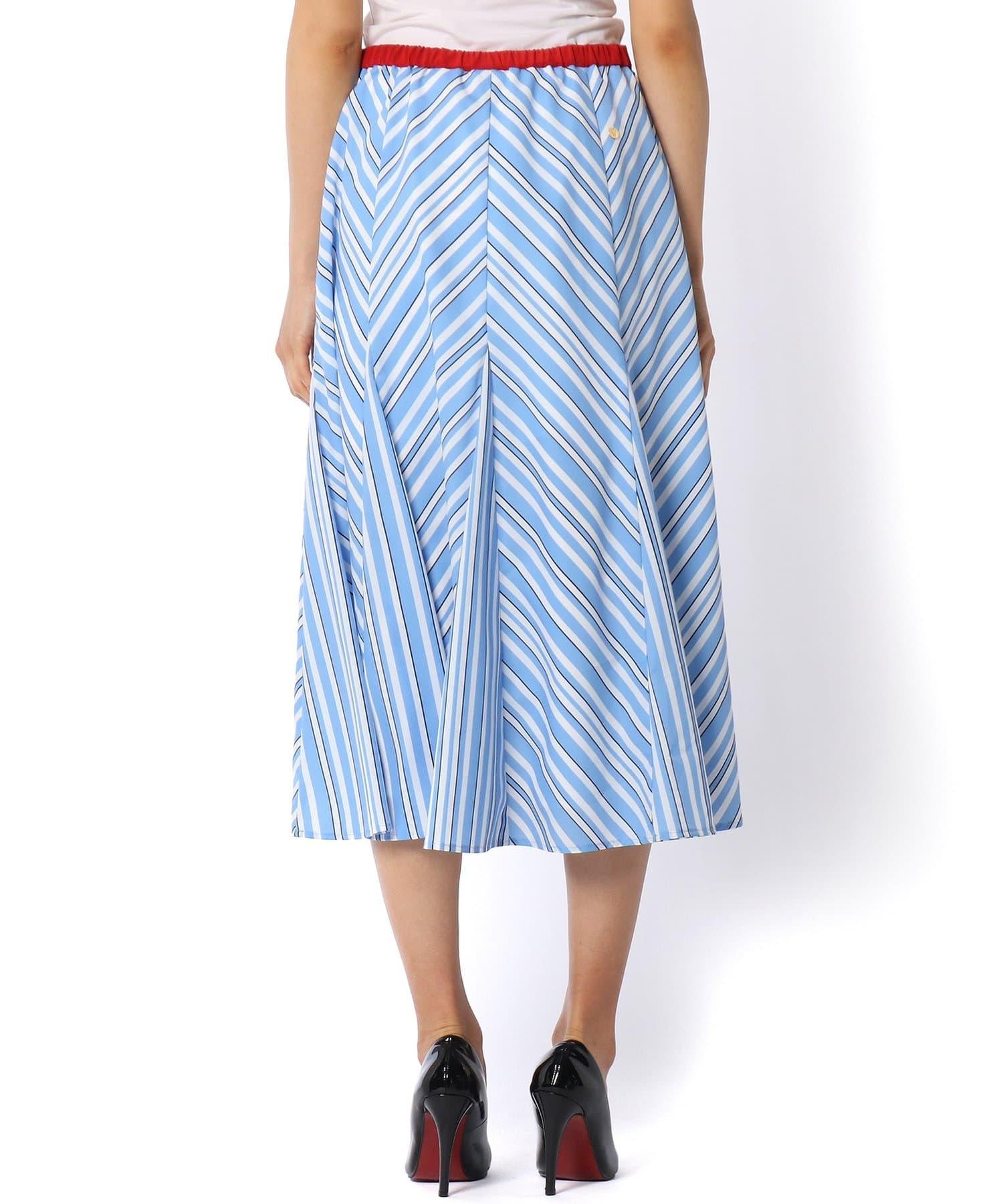 La boutique BonBon(ラブティックボンボン) 《予約》【MUVEIL(ミュベール)】ストライププリントスカート