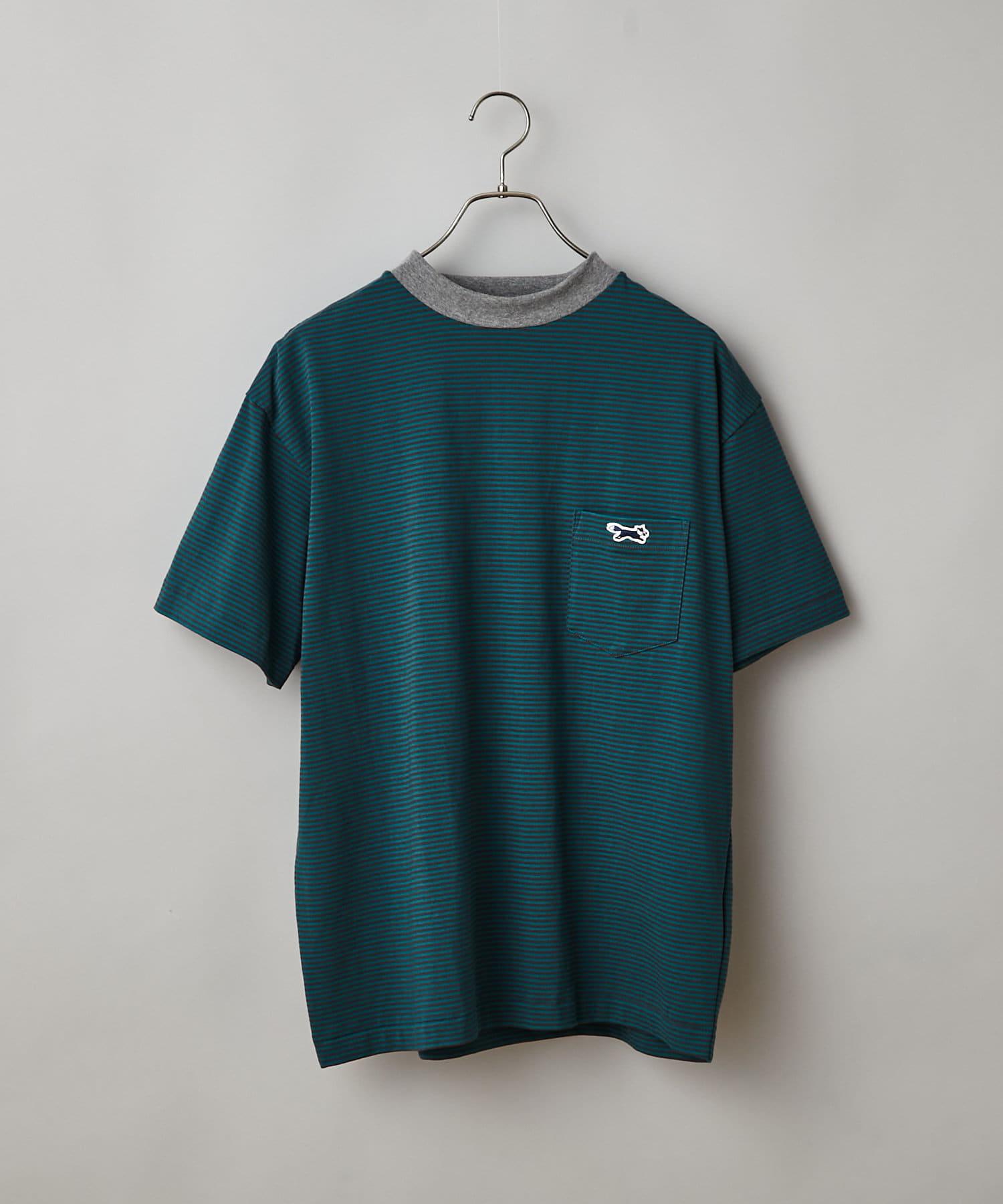 CIAOPANIC(チャオパニック) メンズ 【PENNEYS/ぺニーズ】別注フォックスロゴボーダーTシャツ グリーン