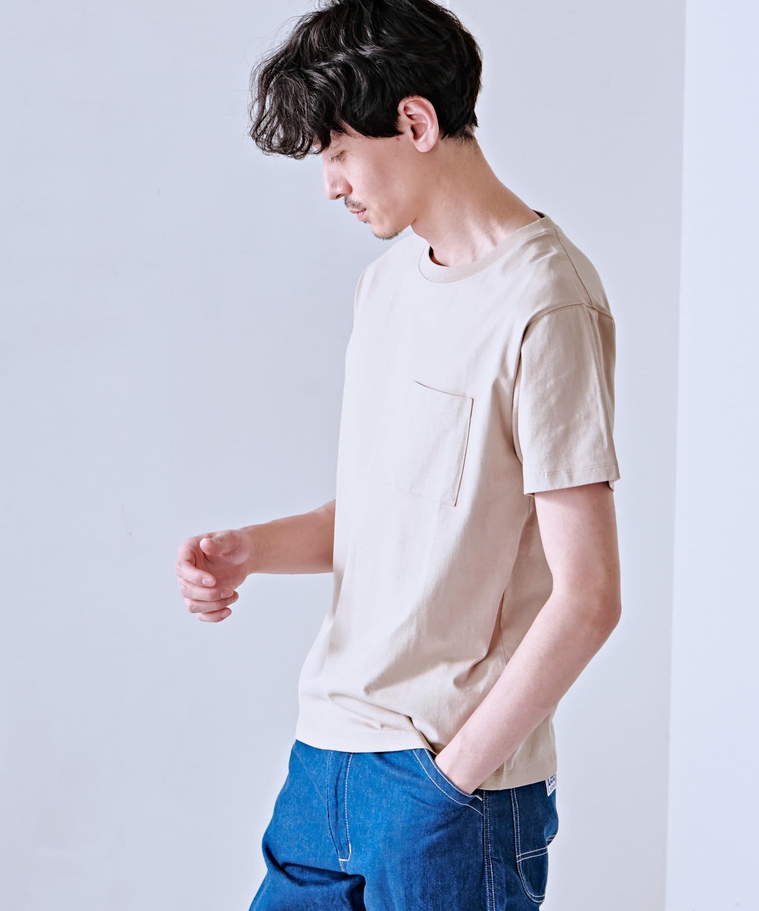 Discoat(ディスコート) メンズ USコットン胸ポケTシャツ ライトグレー