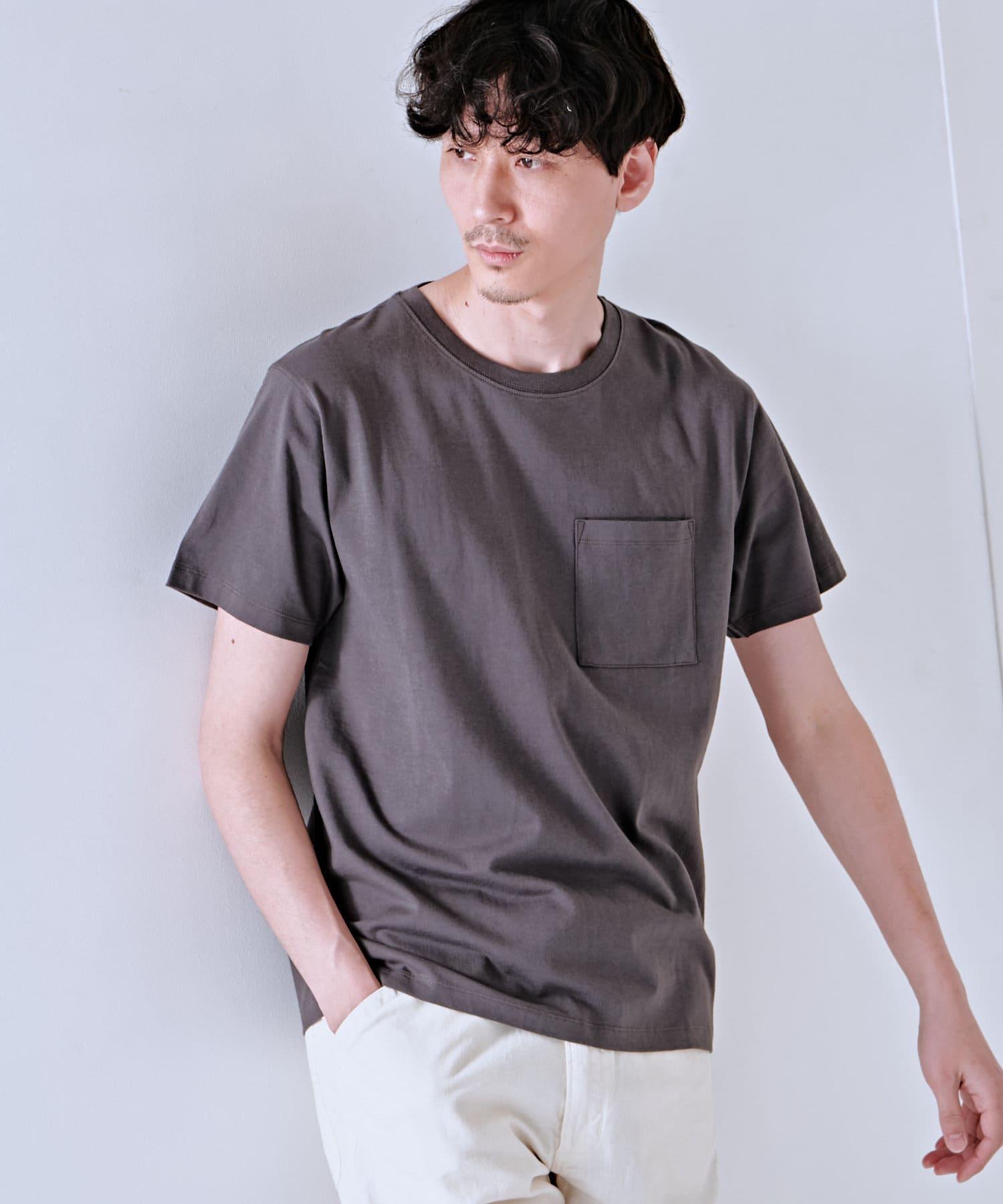 Discoat(ディスコート) メンズ USコットン胸ポケTシャツ トープ