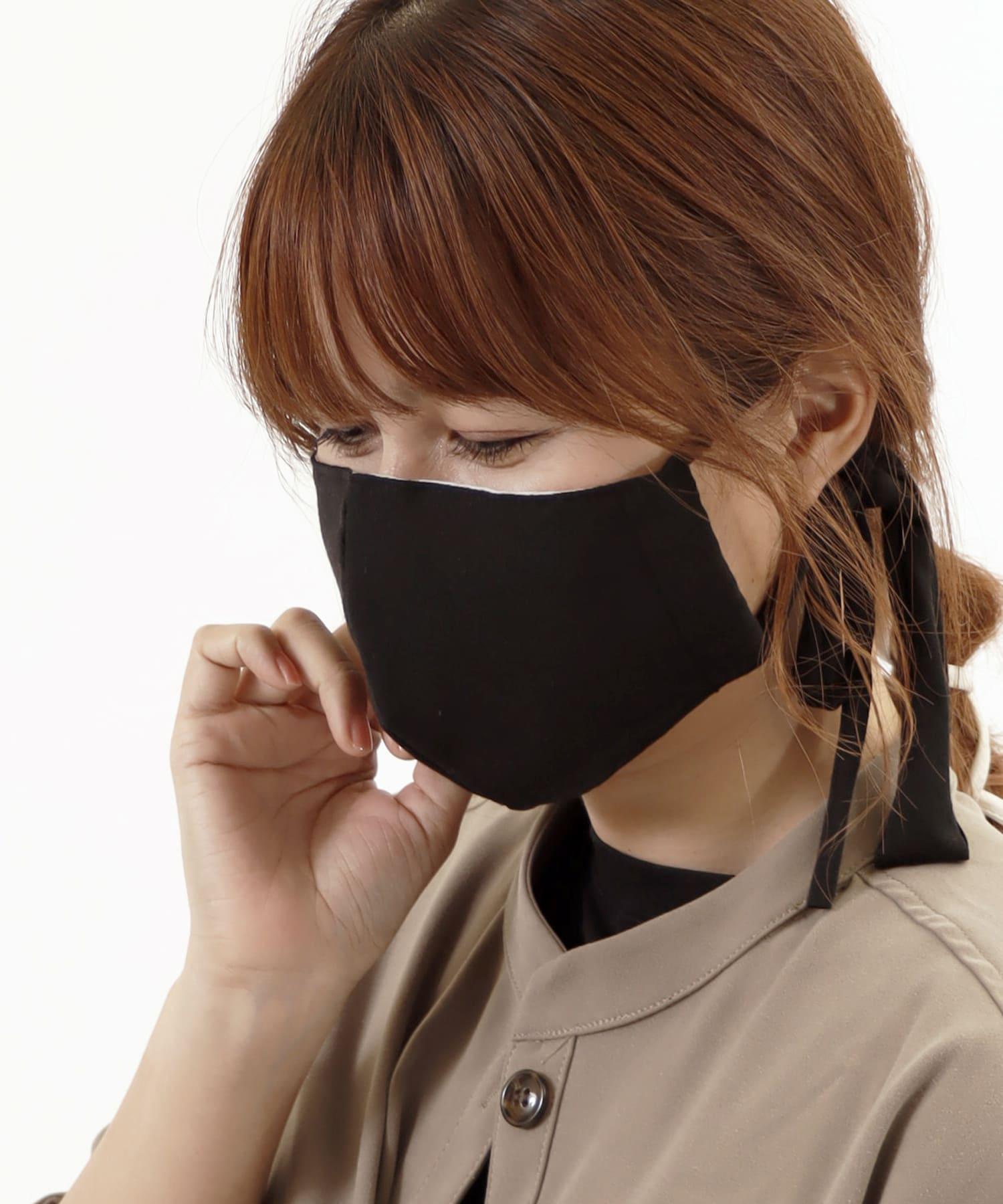 ASOKO(アソコ) レディース 《柔らかな肌触り》カットソーマスク ブラック
