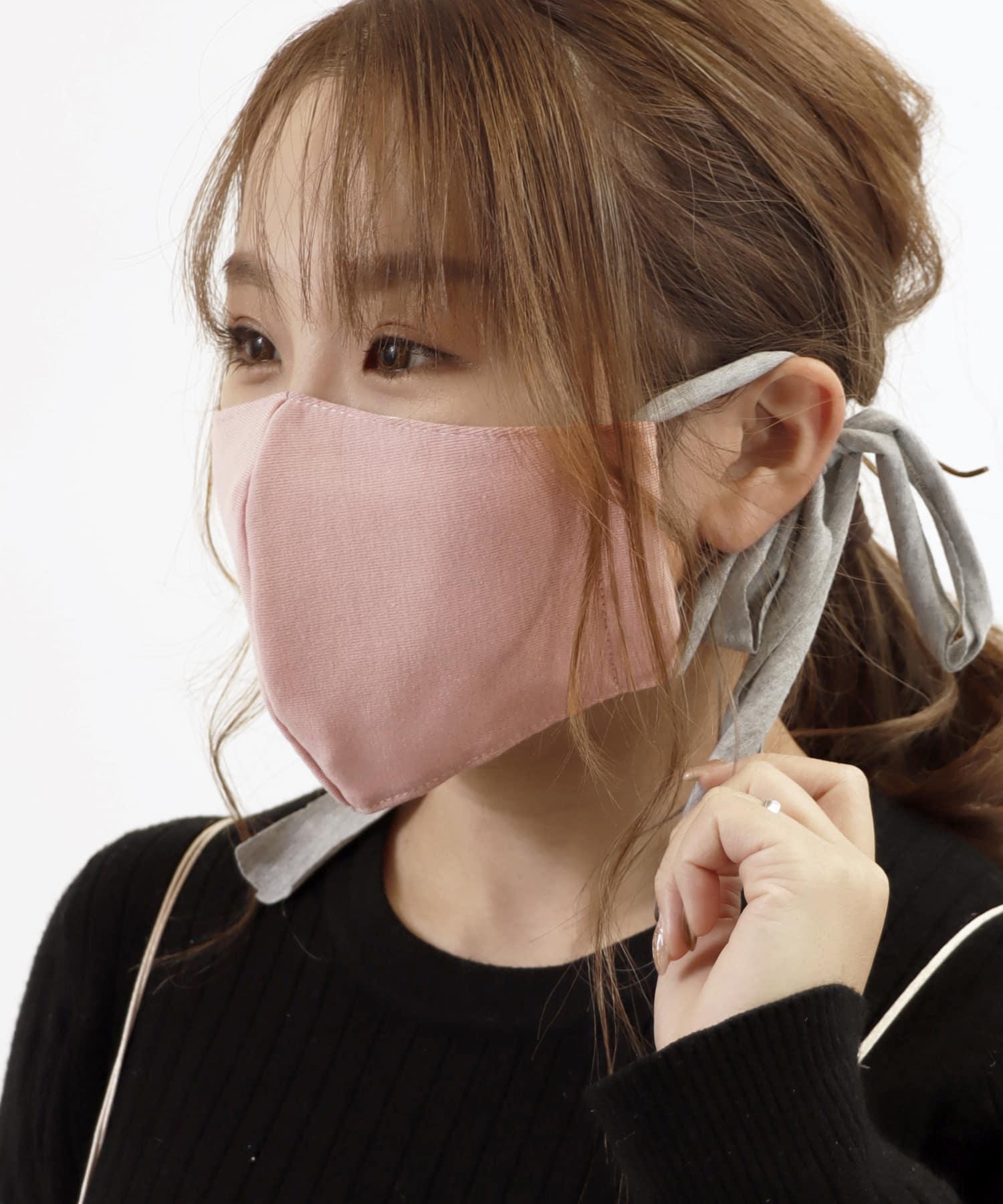 ASOKO(アソコ) ライフスタイル 《血色をよく見せてくれる》カットソーマスク ピンク