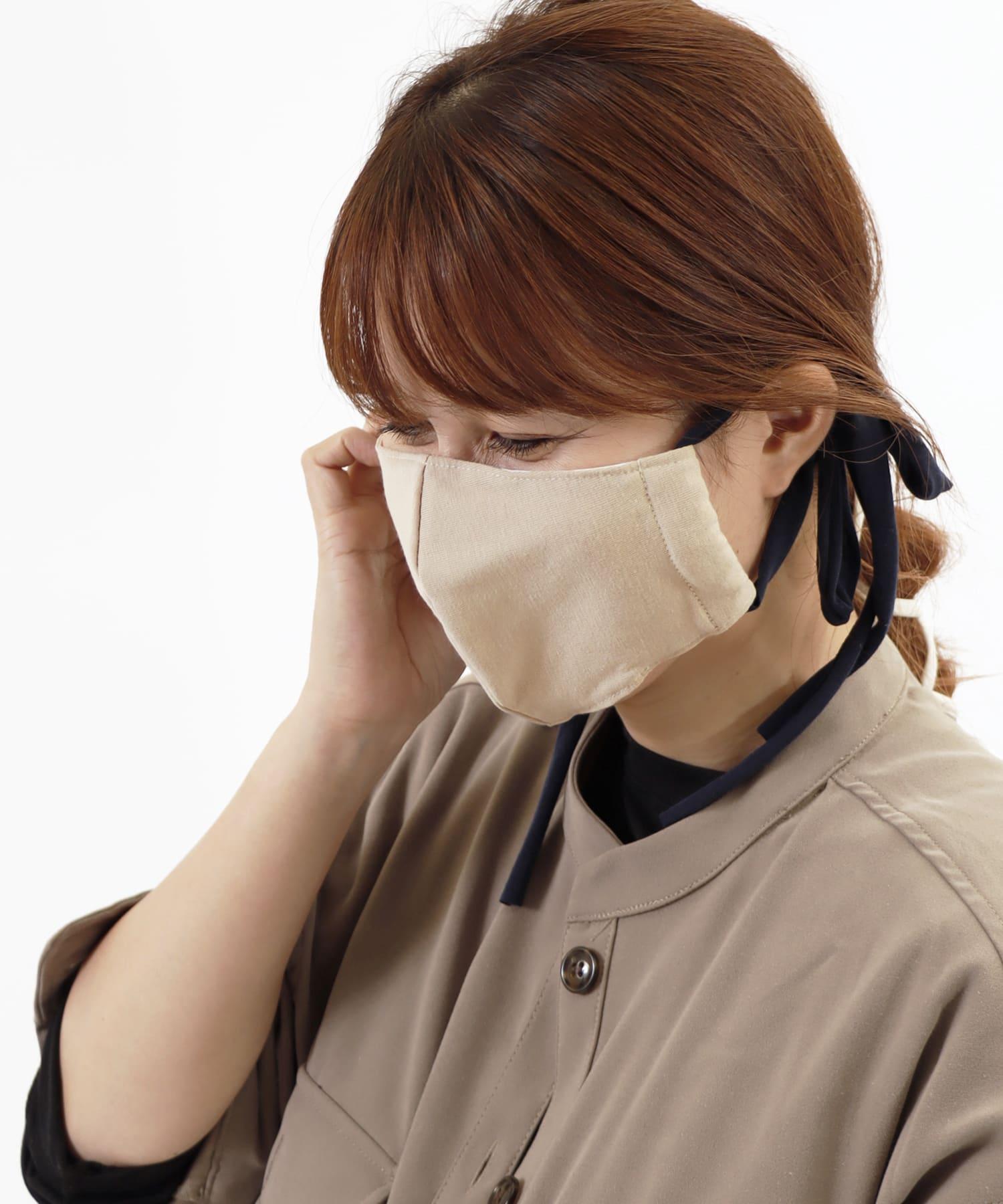 ASOKO(アソコ) ライフスタイル 《柔らかな肌触り》カットソーマスク ベージュ