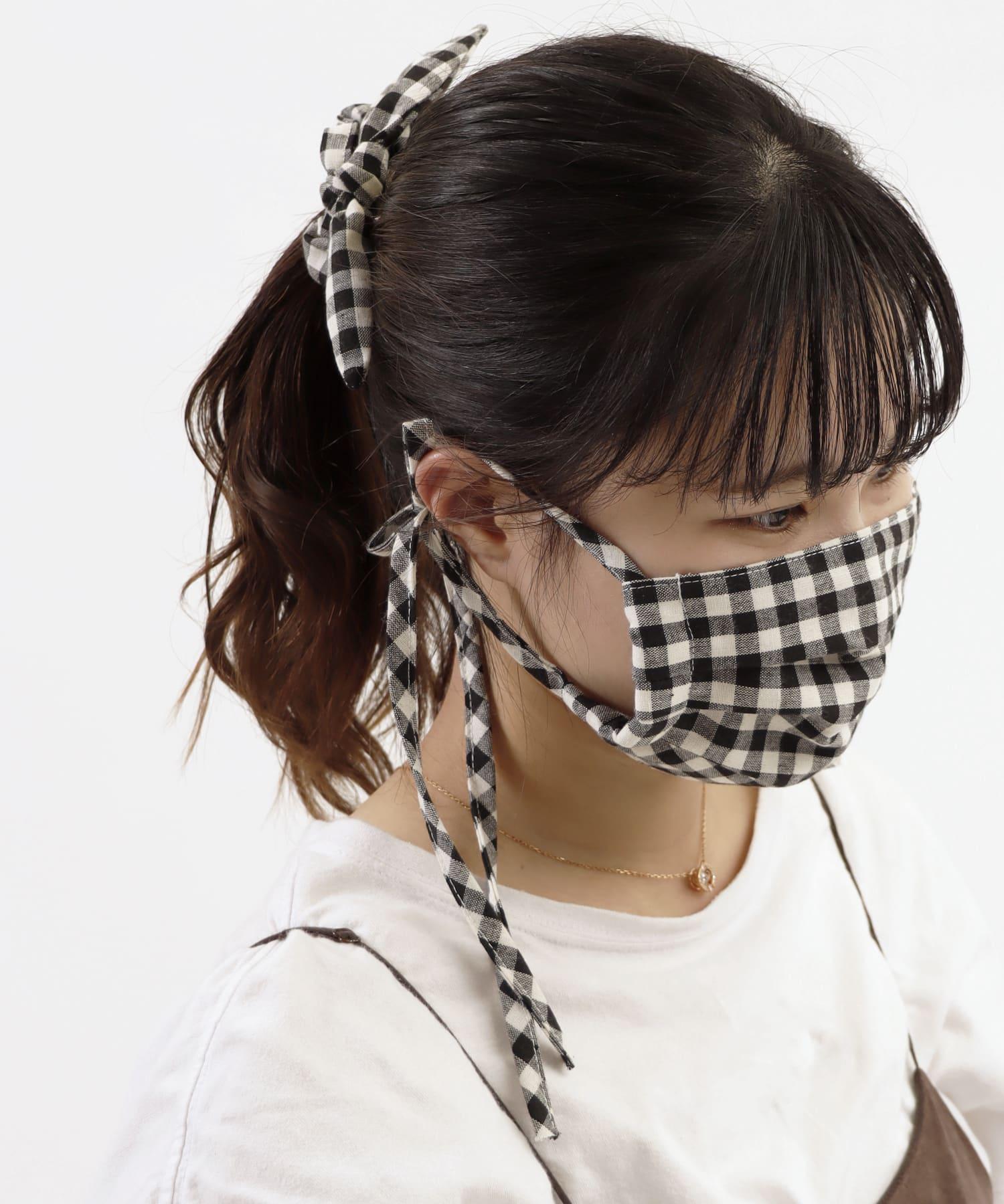 ASOKO(アソコ) レディース 《お得なセットアイテム》マスク&シュシュセット ブラック