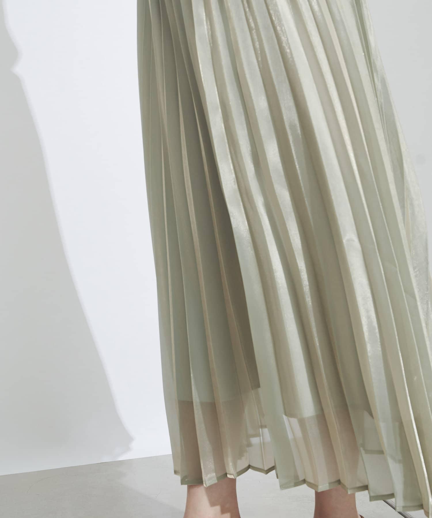 prose verse(プロズヴェール) レディース 【ウエストゴム仕様】オーロラシアープリーツスカート ミント
