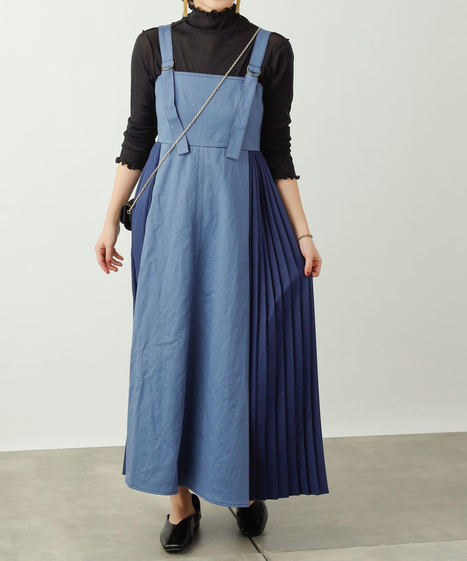 COLONY 2139(コロニー トゥーワンスリーナイン) ツイルサイドプリーツジャンパースカート