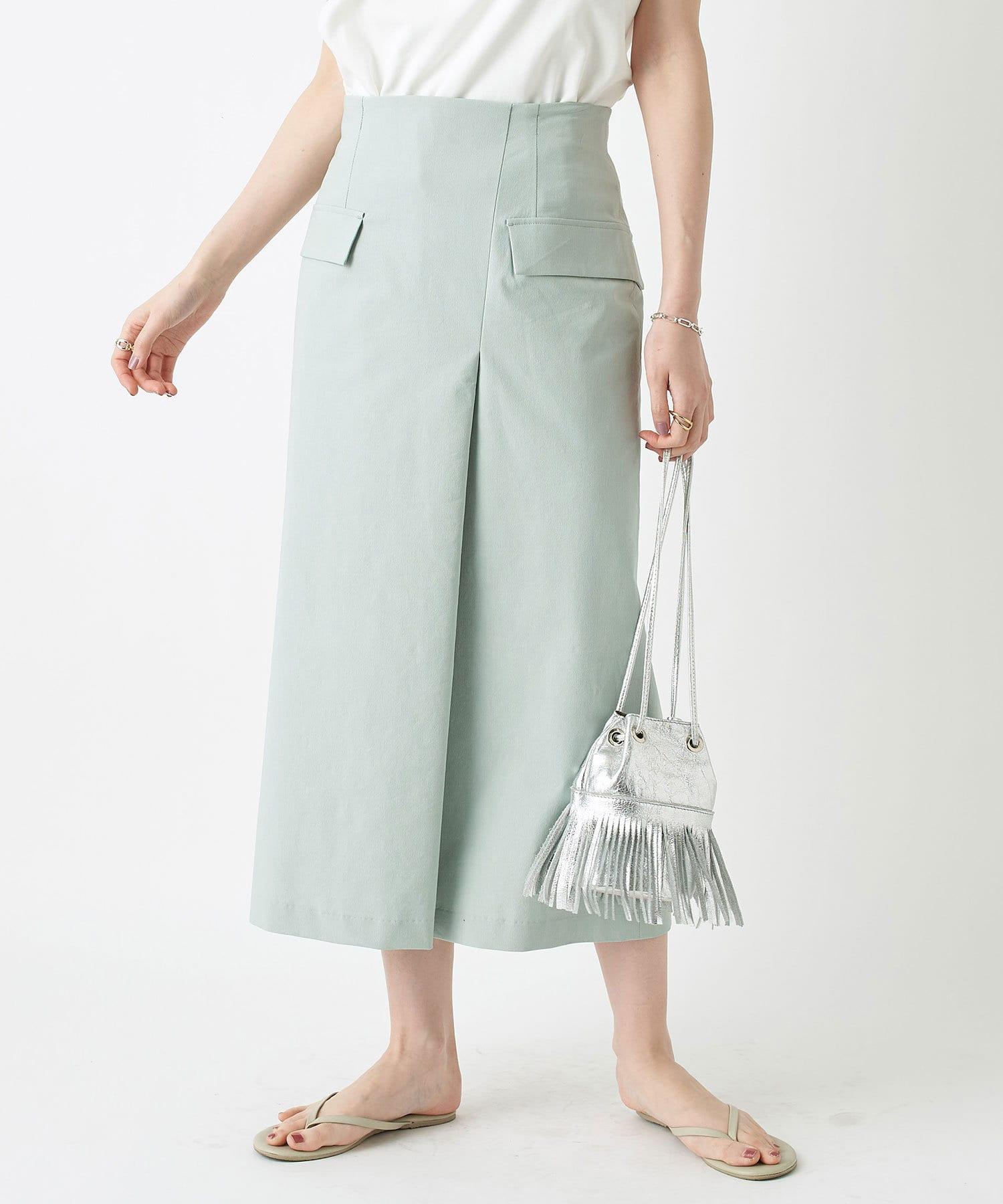 RIVE DROITE(リヴドロワ) レディース 【女らしさを盛り上げる】リネン混フラップスカート ミント