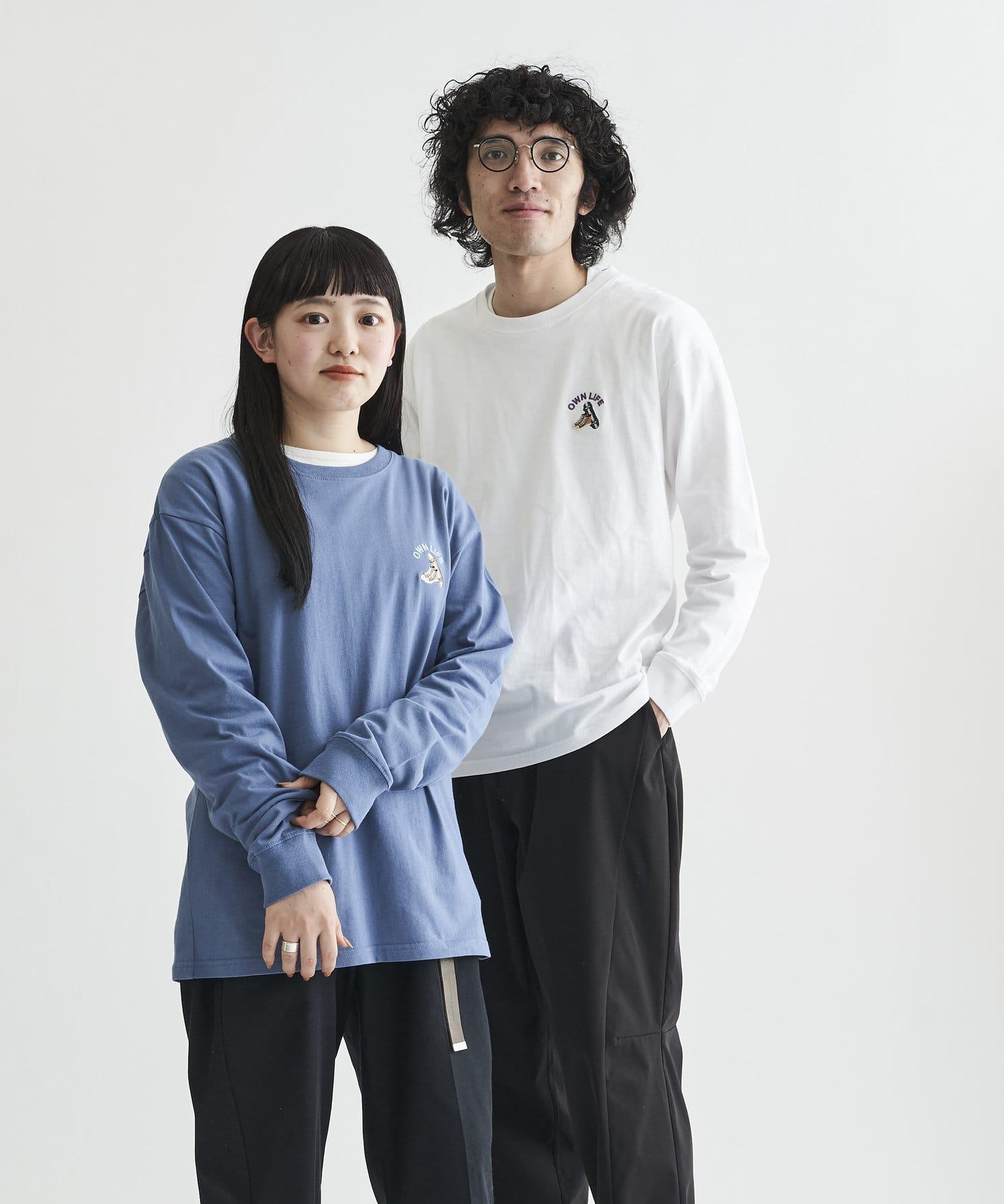 CPCM(シーピーシーエム) 【ユニセックスでおすすめ】1ポイント刺繍 ロンT
