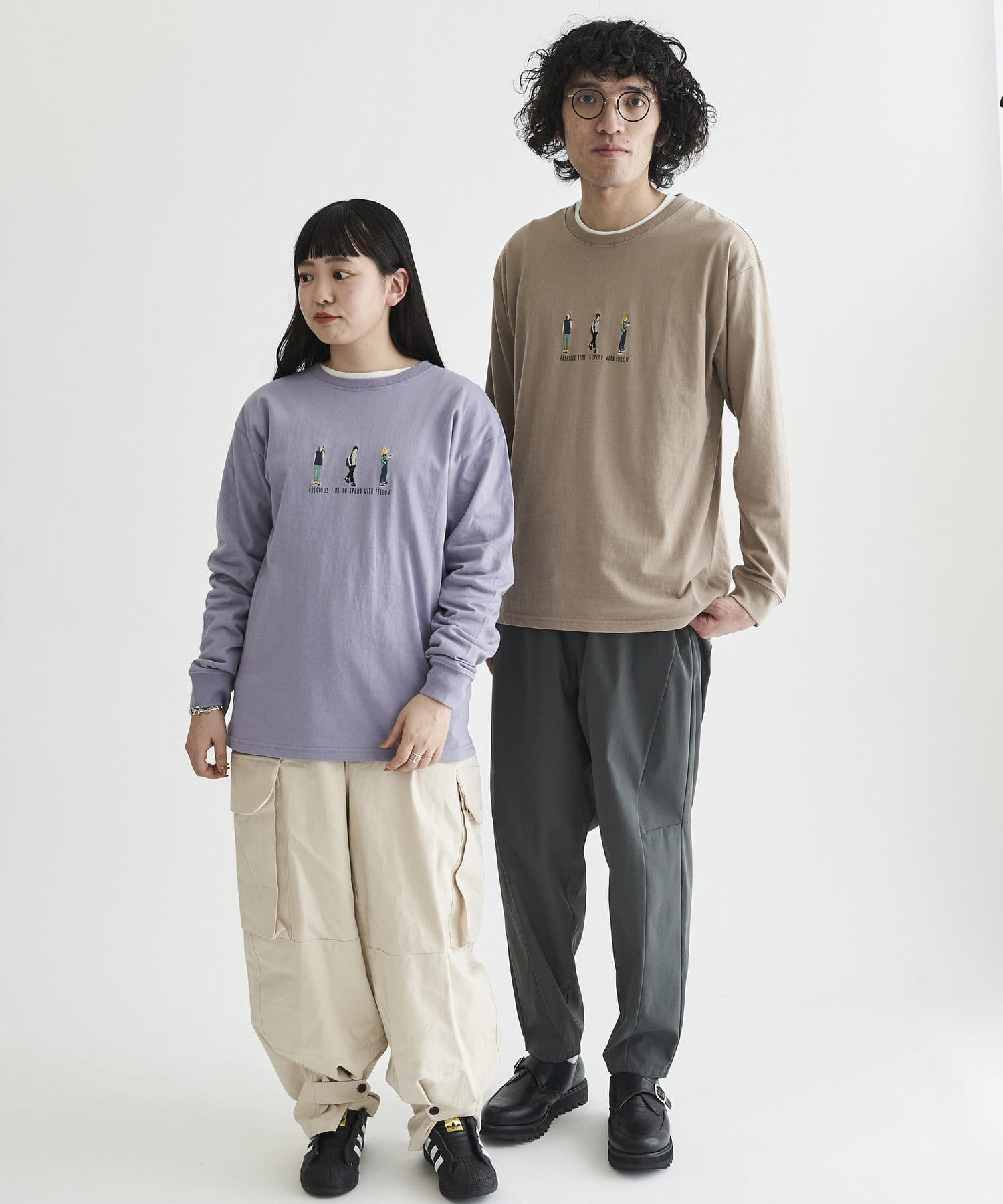 CPCM(シーピーシーエム) 【ユニセックスでおすすめ】人物刺繍 ロンT